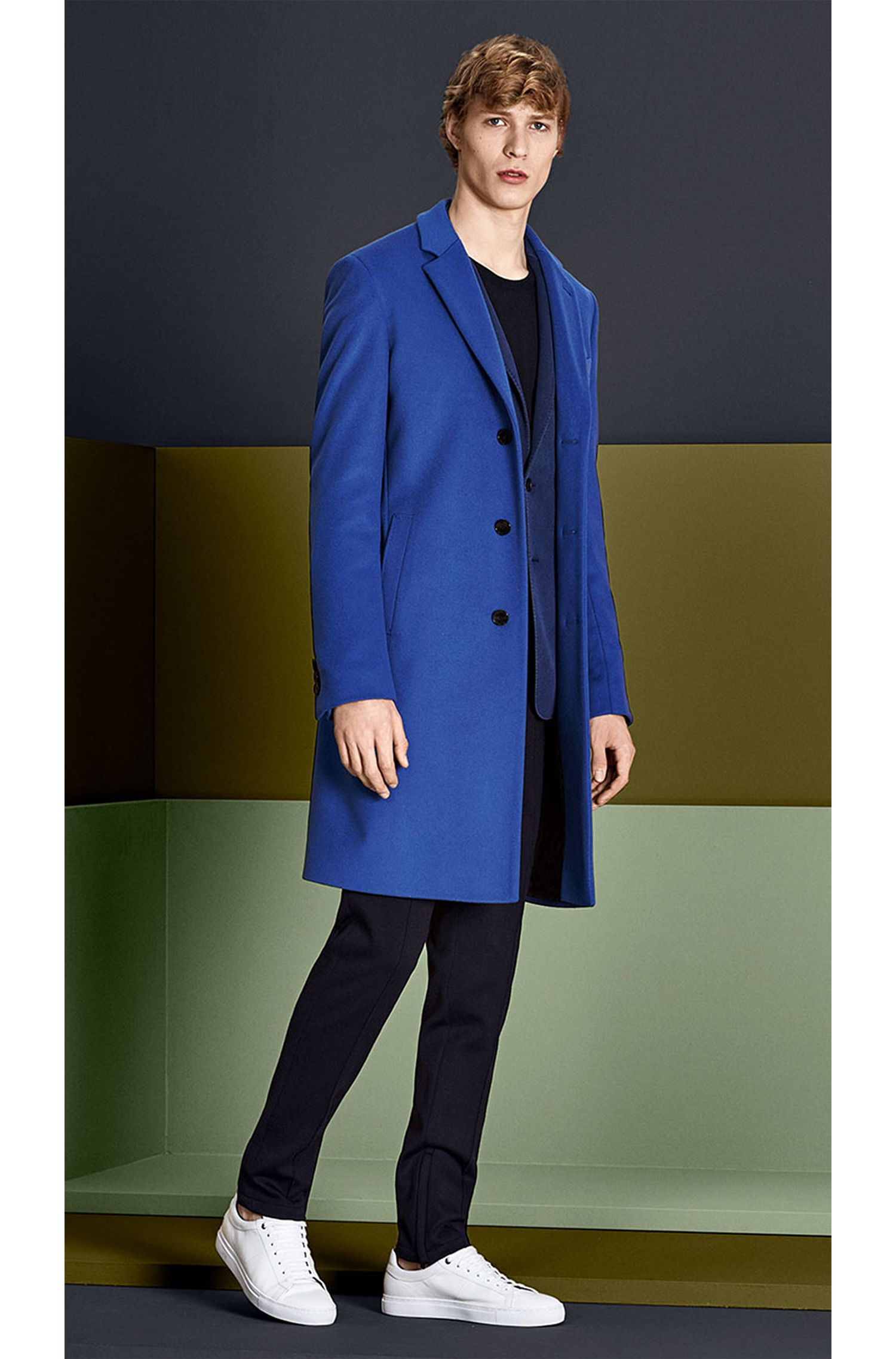 Manteau en laine vierge mélangée à teneur en cachemire: «Nye»