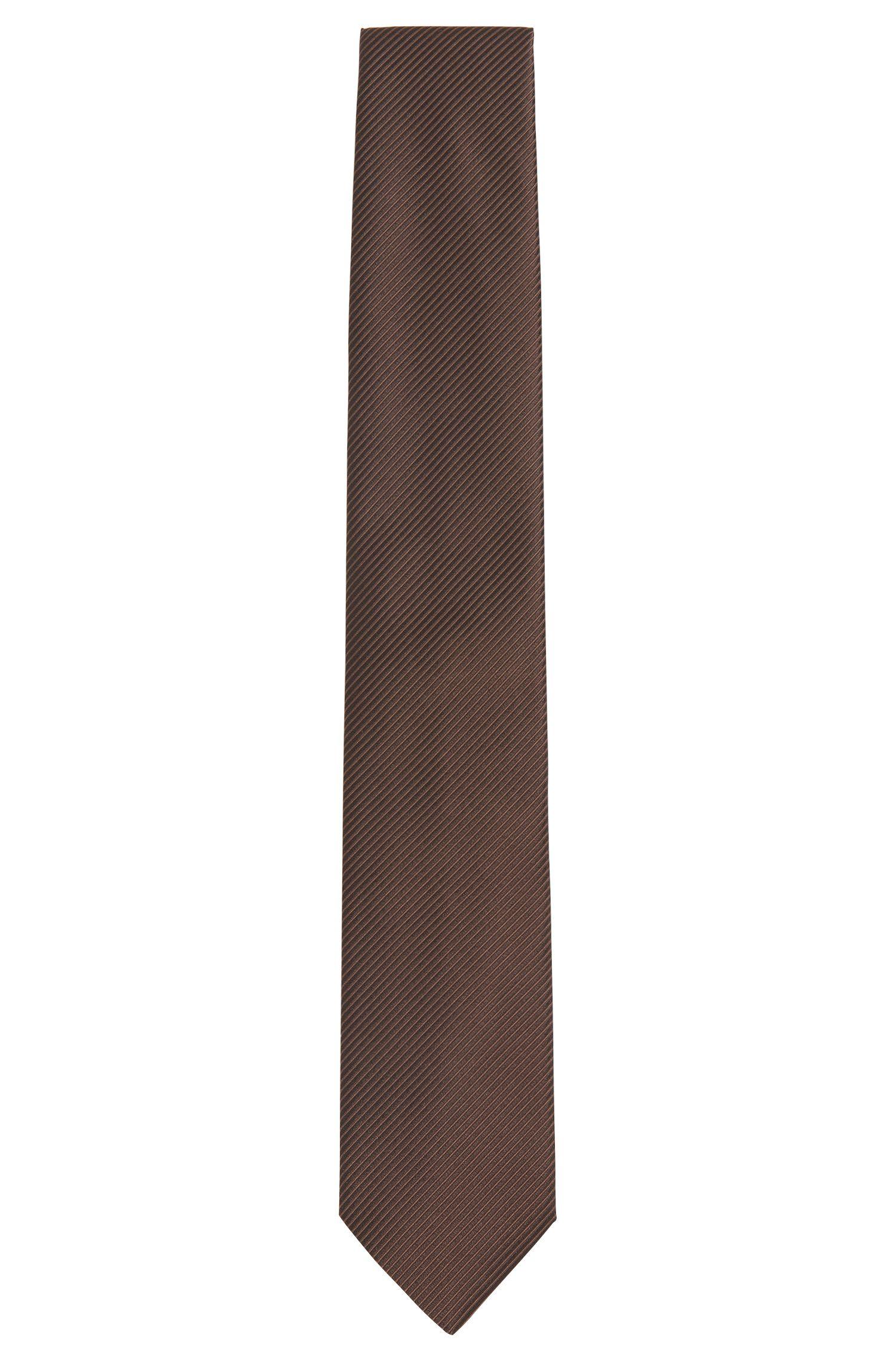Silk tie with linear texture: 'Tie cm 7'