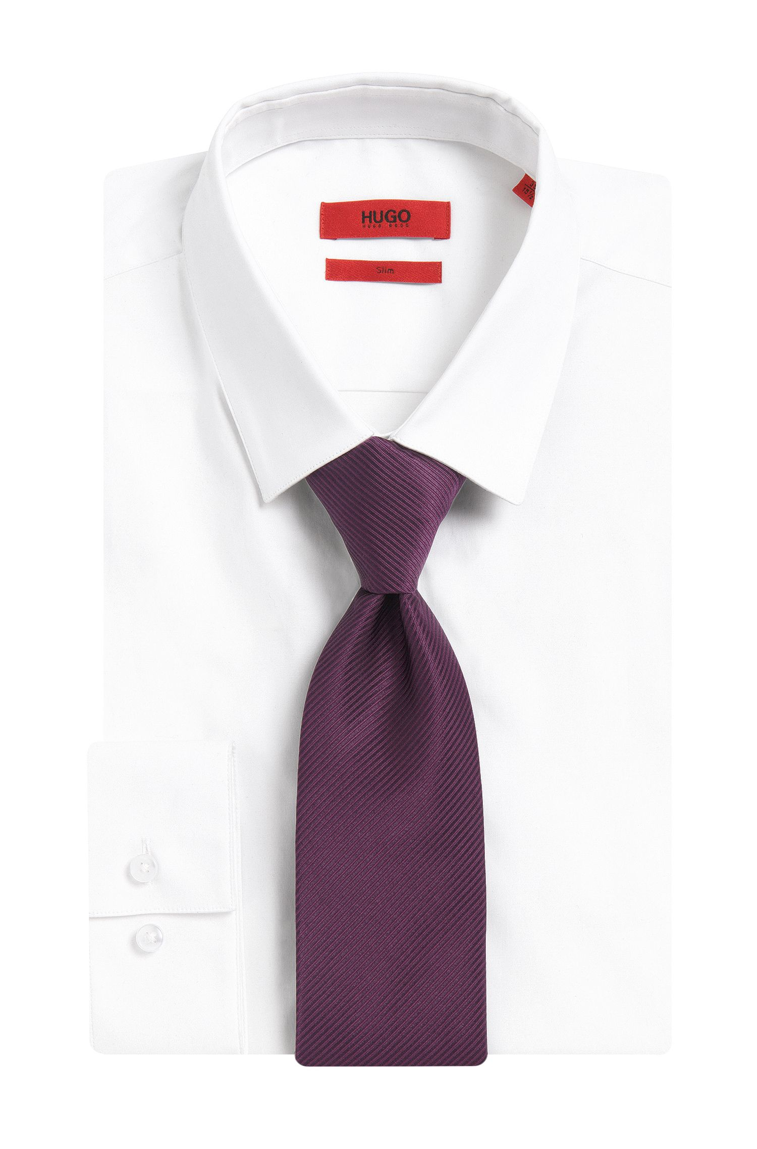 Krawatte aus Seide mit Linien-Struktur: 'Tie cm 7'