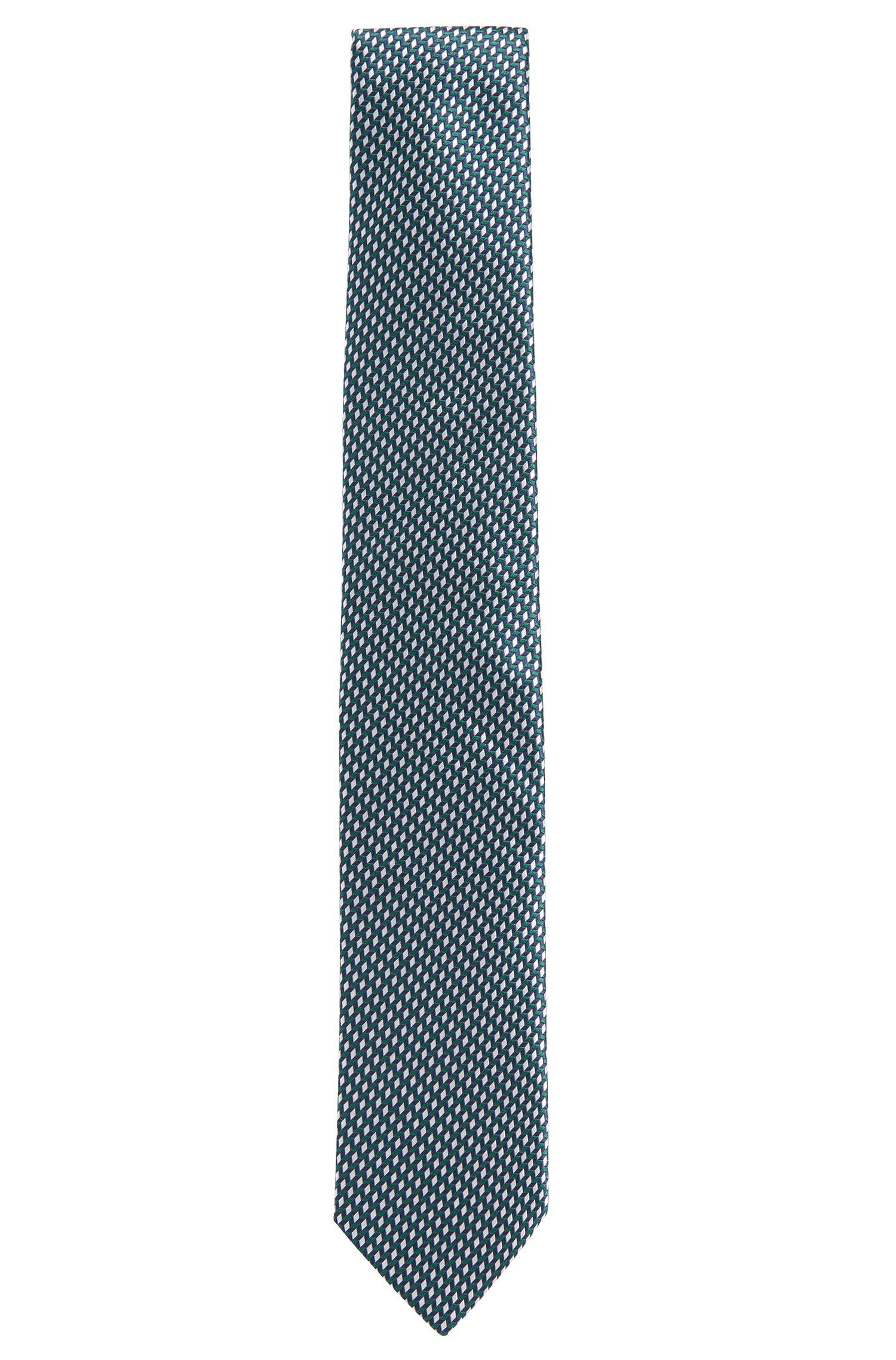 Cravatta in seta con motivo 3D: 'Tie cm 7'