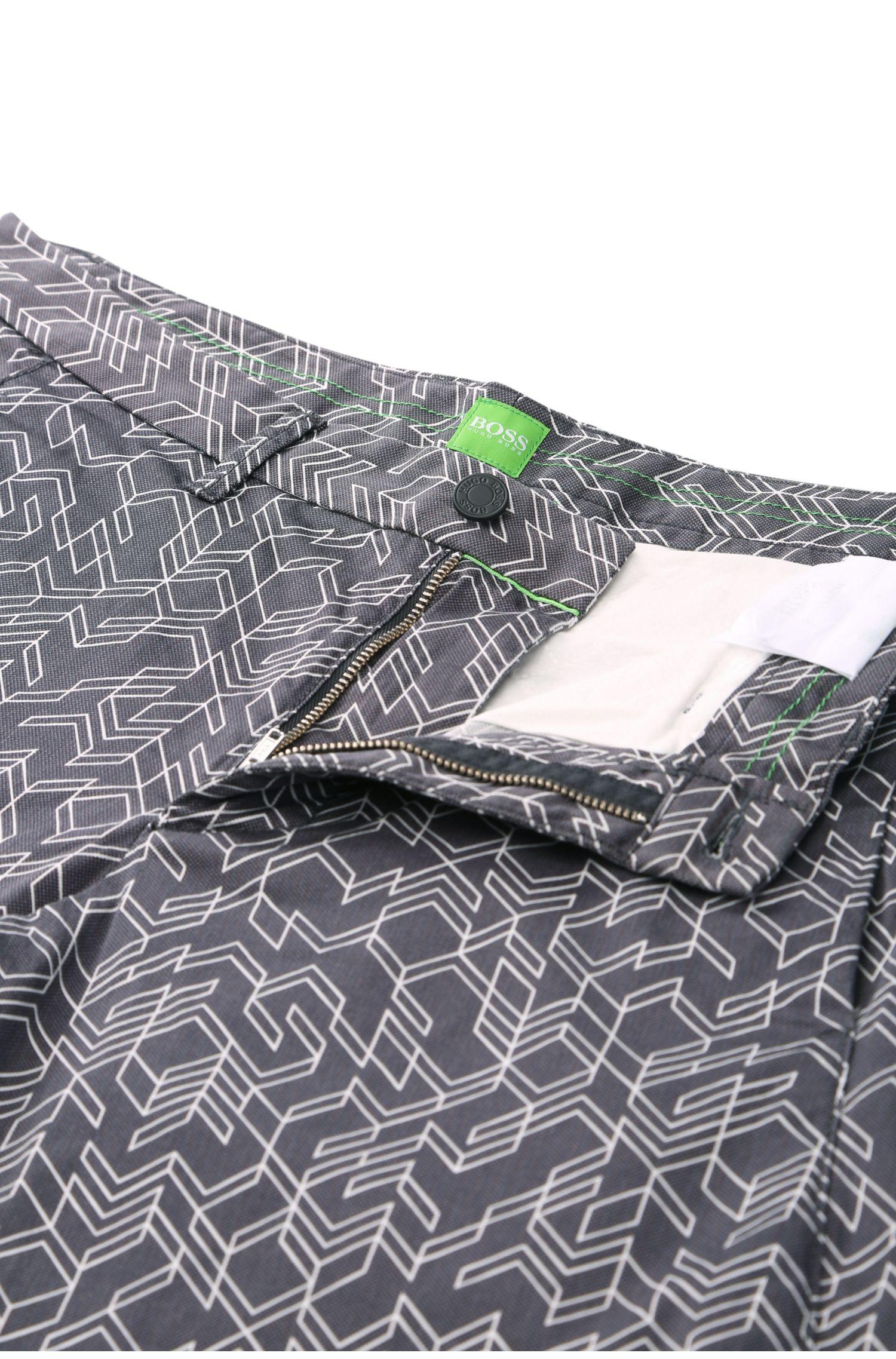 Pantalon à motif Slim Fit en coton extensible: «Leeman3-3-W»