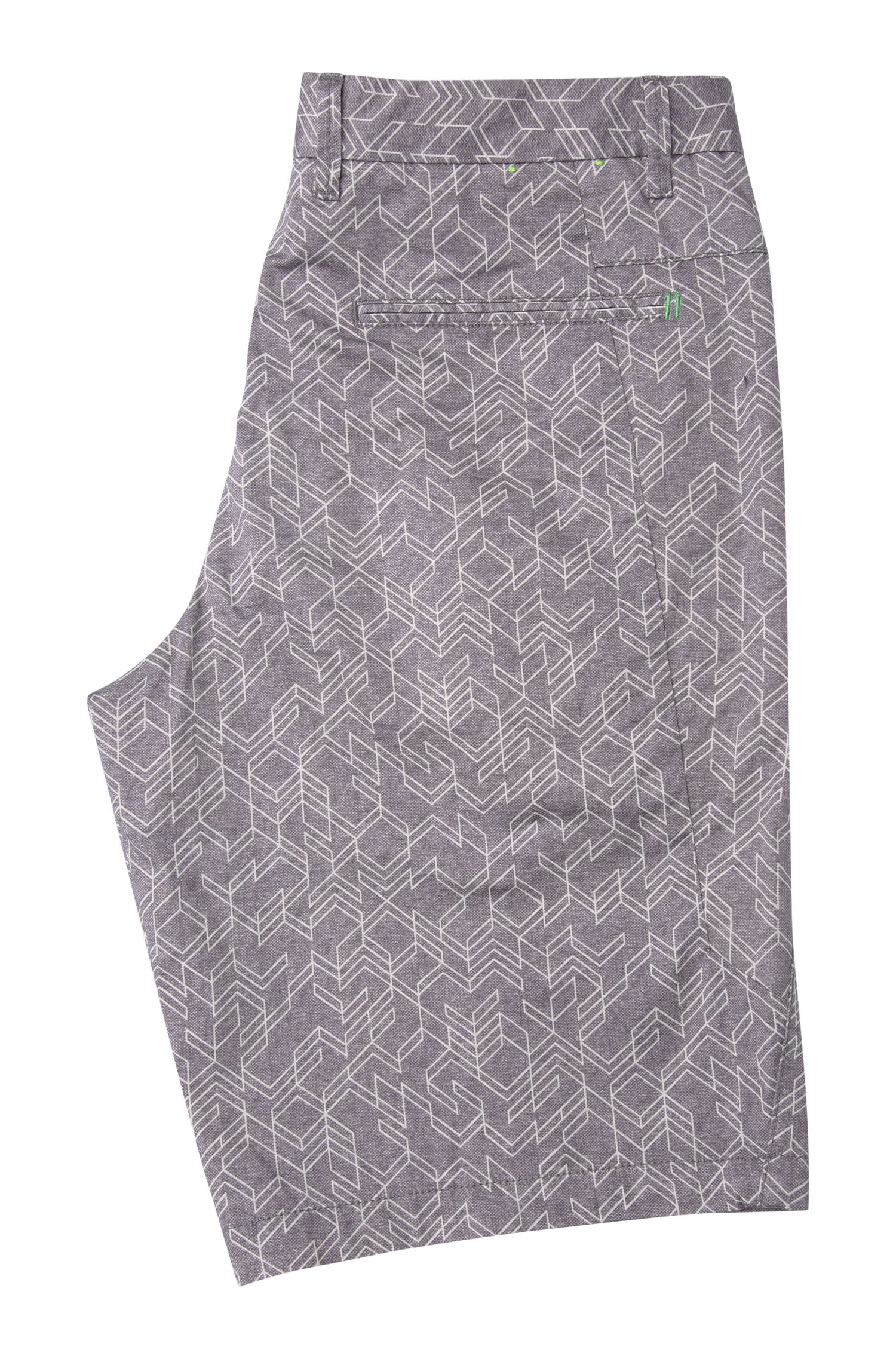 Short Slim Fit en coton extensible à motif : « Liem2-1-W »