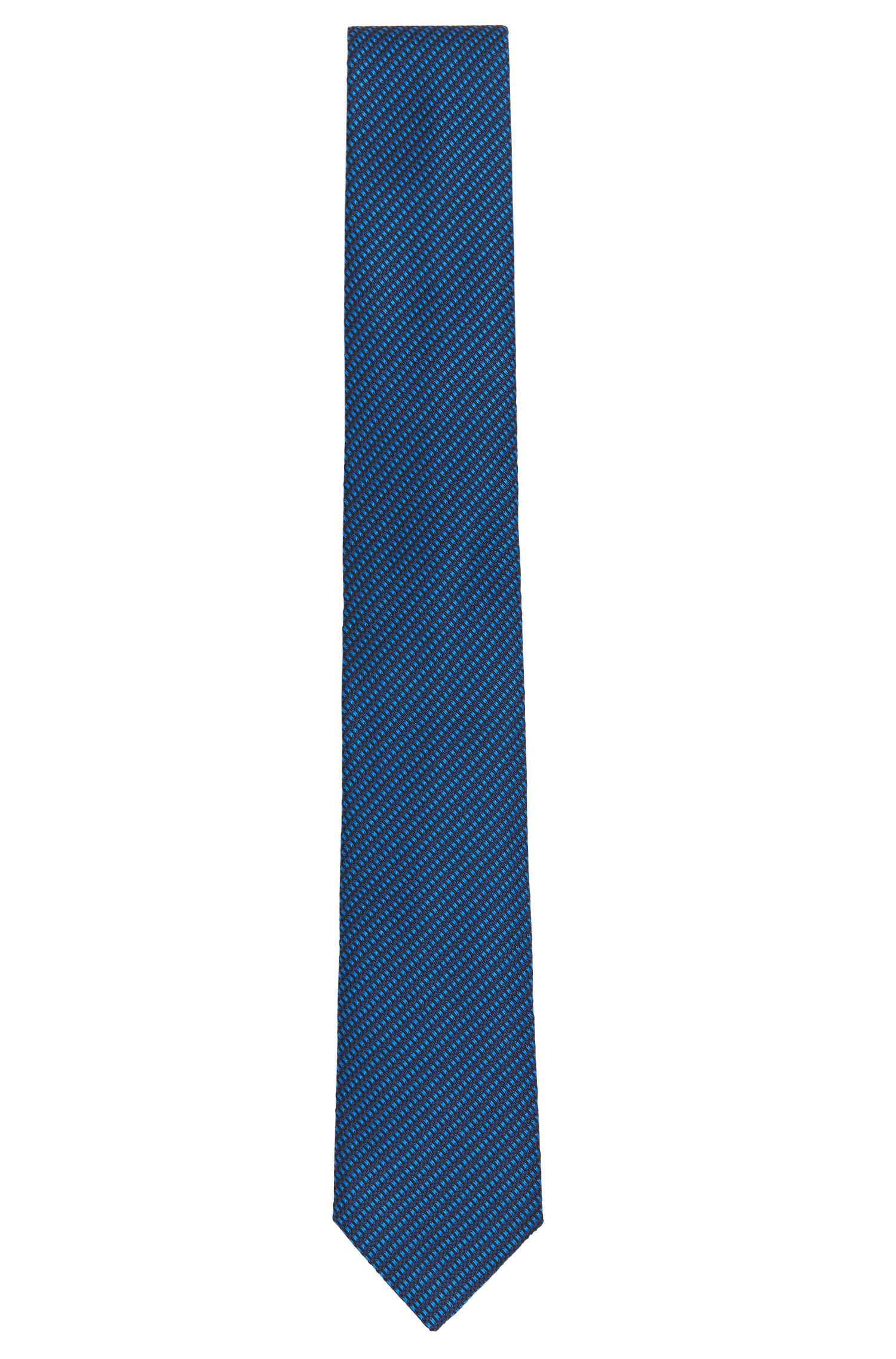 Tailored silk tie with fine texture: 'T-Tie 6 cm'