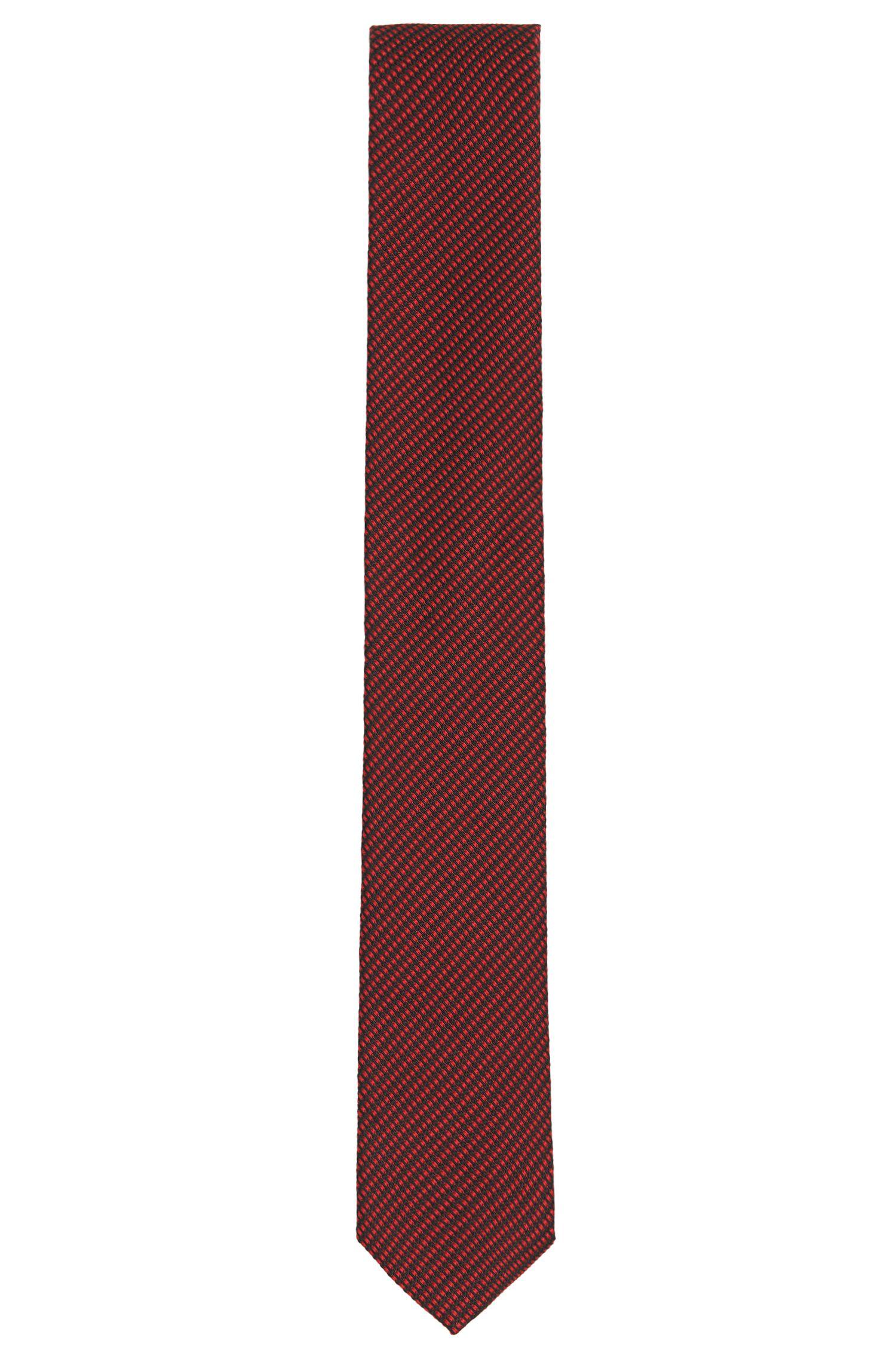 Tailored Krawatte aus Seide mit feiner Struktur: 'T-Tie 6 cm'