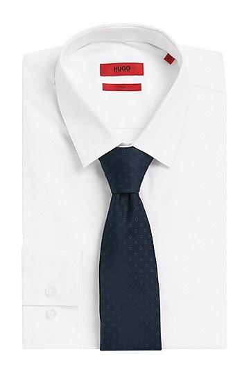 Gepunktete Krawatte aus reiner Seide: 'Tie cm 7', Hellgrün