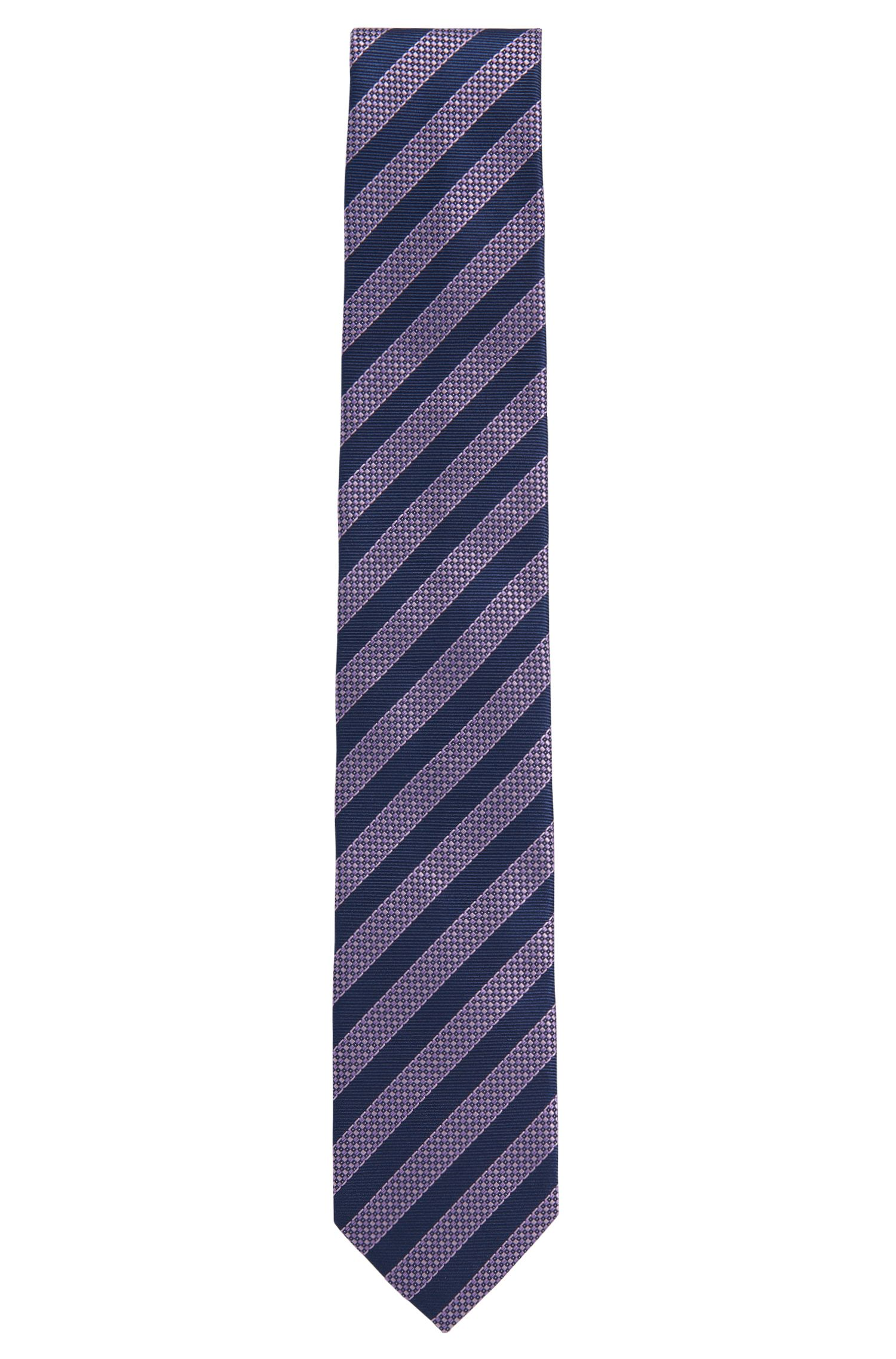 Striped silk tie: 'Tie 7 cm'