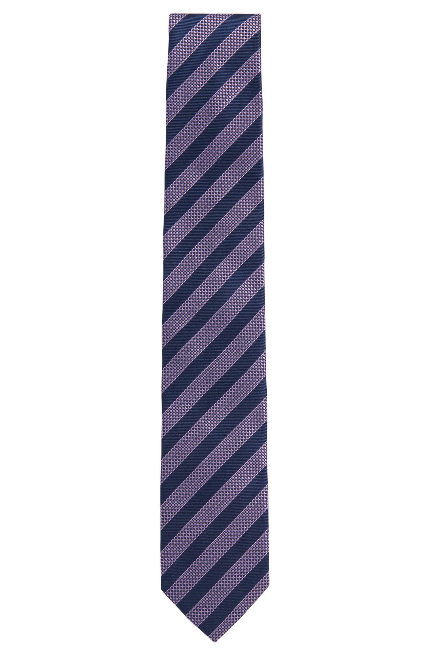 Gestreepte stropdas van zijde: 'Tie 7 cm'