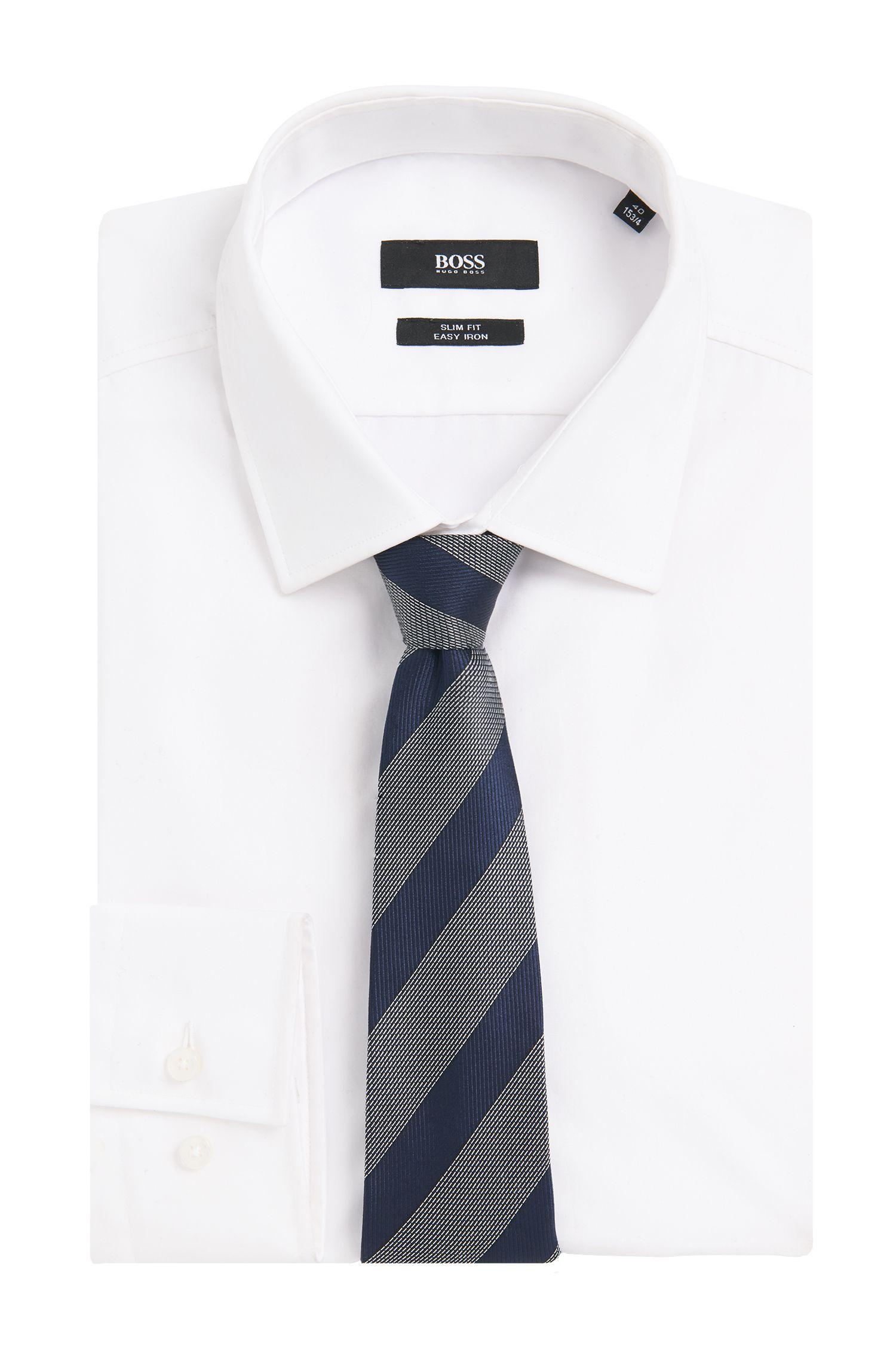 Cravate en soie Tailored à rayures: «T-Tie 7,5cm»