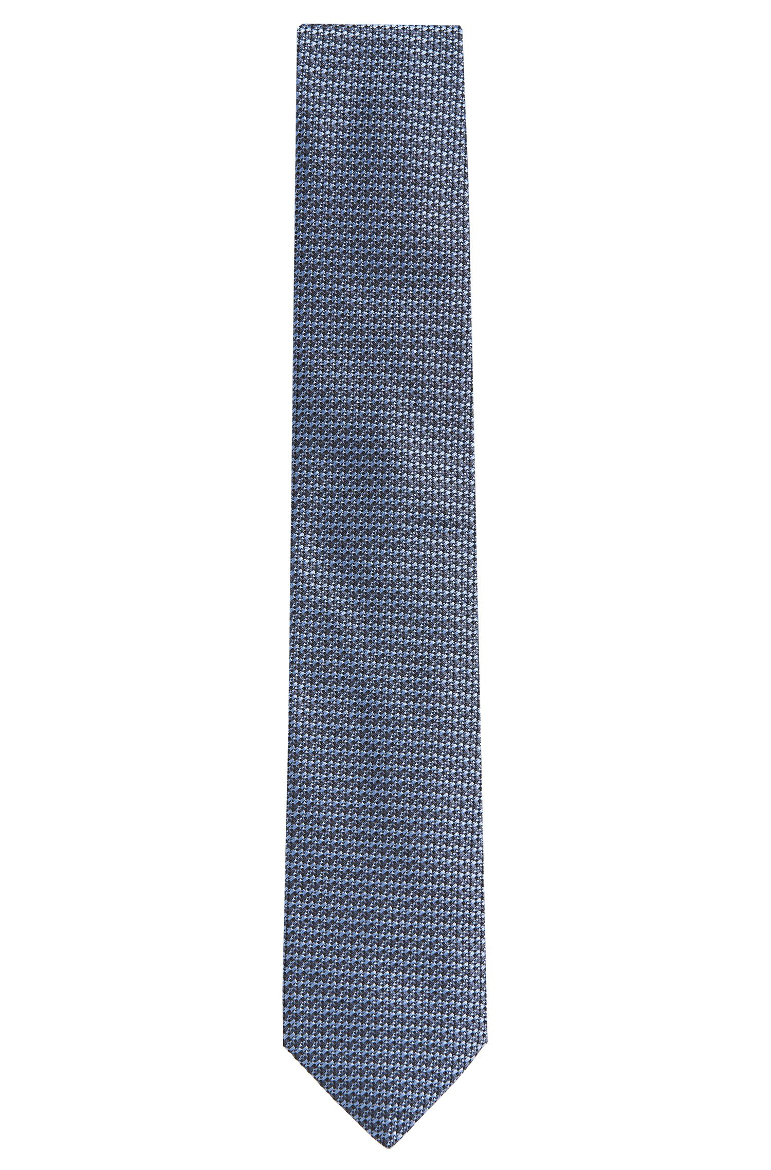 Stropdas van zijde met dessin in afgestemde kleuren: 'Tie cm 7'