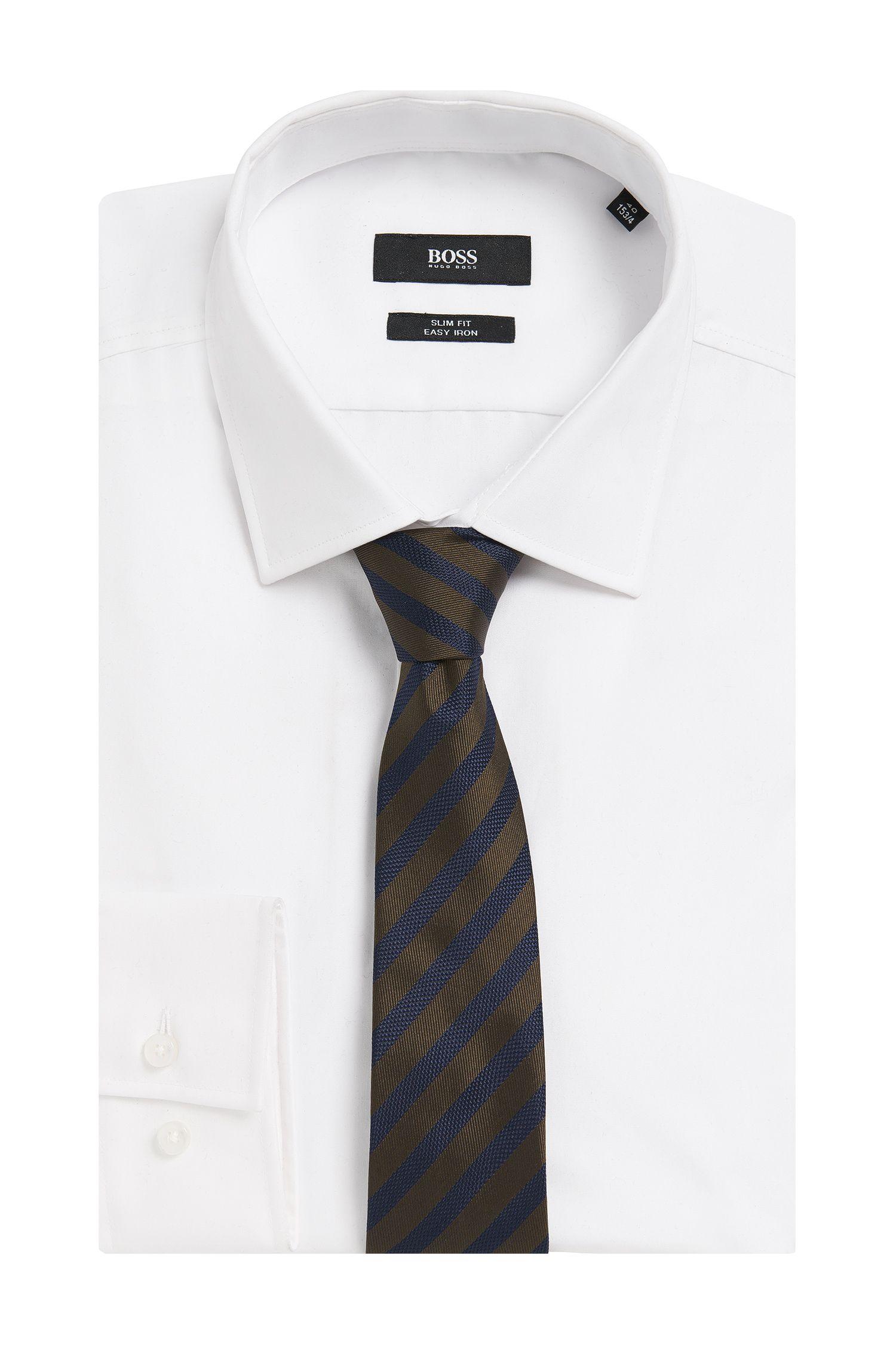 Gestreifte Tailored Krawatte aus Seide: 'T-Tie 6 cm'