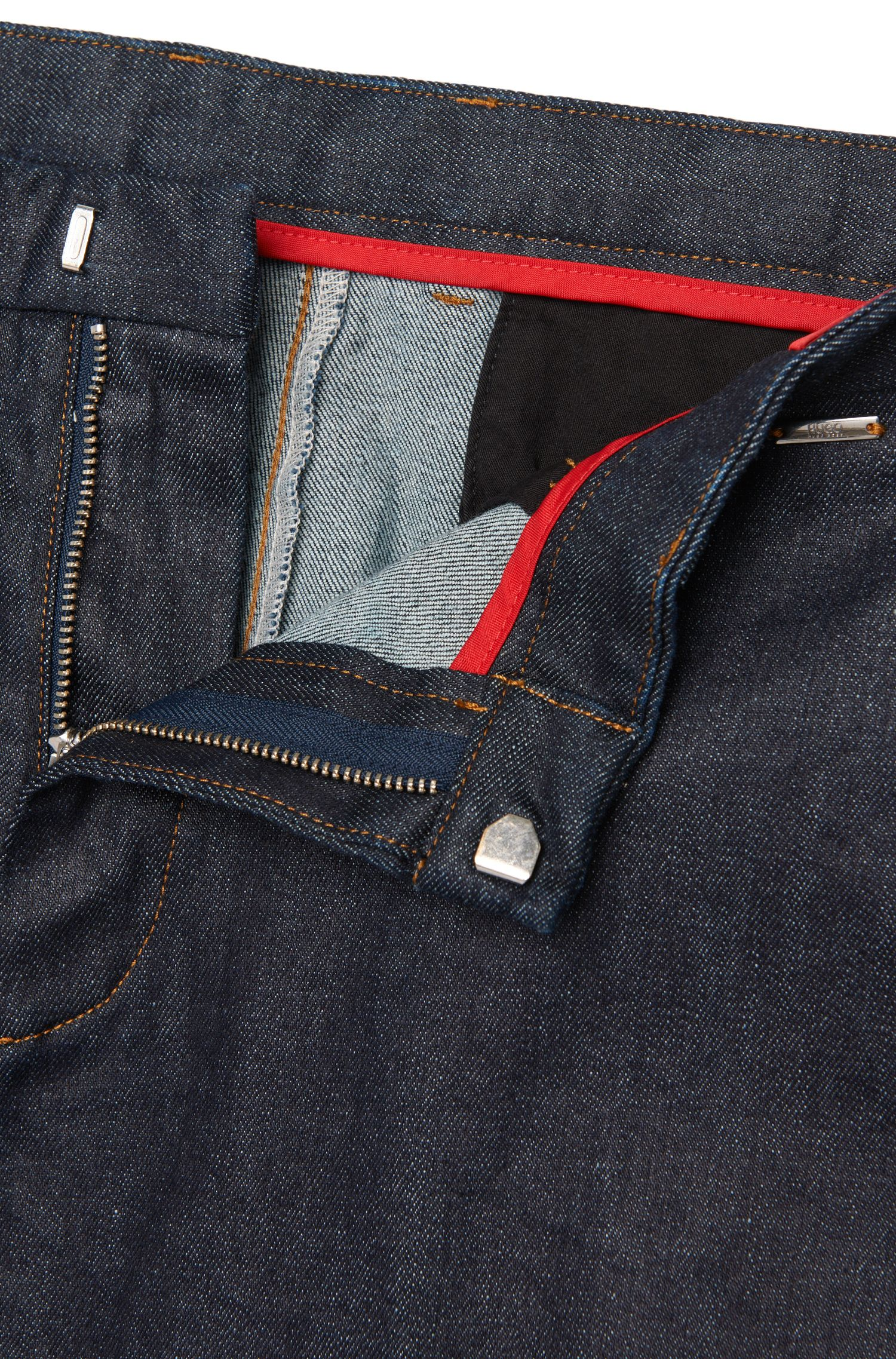 Tapered-Fit Jeans aus Baumwoll-Mix im Chino-Stil: 'Helgo1-W'