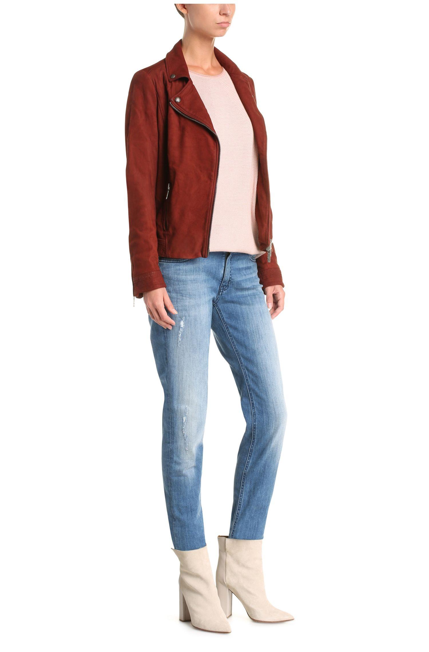 Relaxed-fit trui van een viscosemix met katoen, scheerwol en zijde: 'Ilsetta'