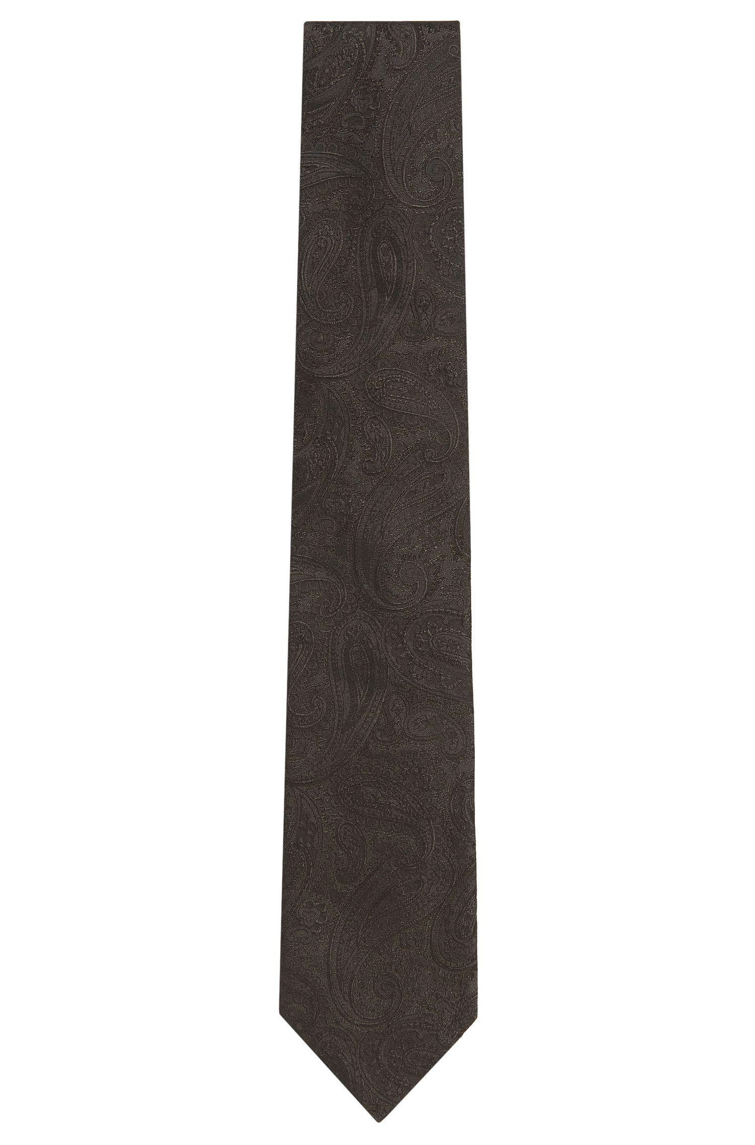 Zijden stropdas met paisleydessin: 'Tie cm 7'