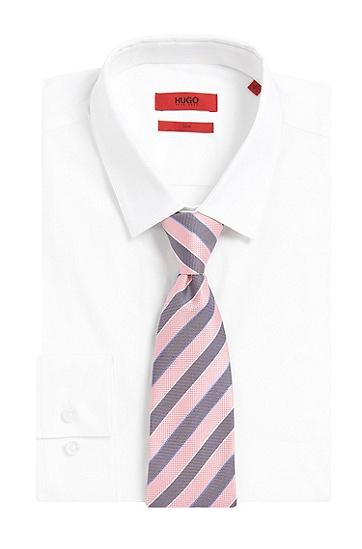 Gestreifte Krawatte aus Seide: 'Tie cm 7', Hellrosa