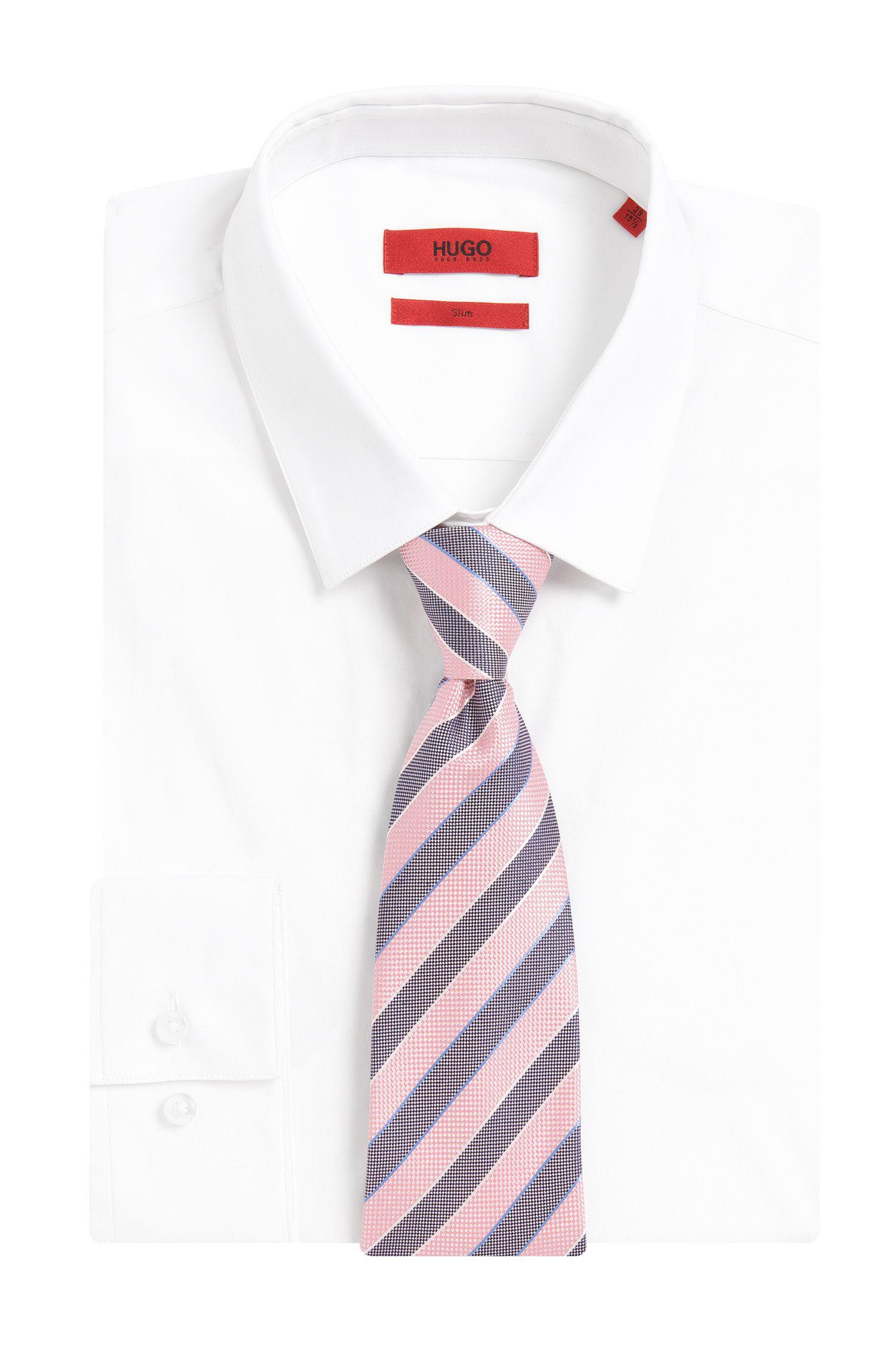 Cravate en soie à rayures: «Tie cm7»