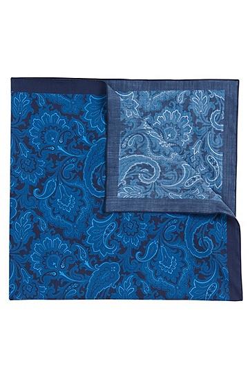 Bandana aus Baumwolle mit Paisley-Muster: 'Bandana cm 60x60', Dunkelblau