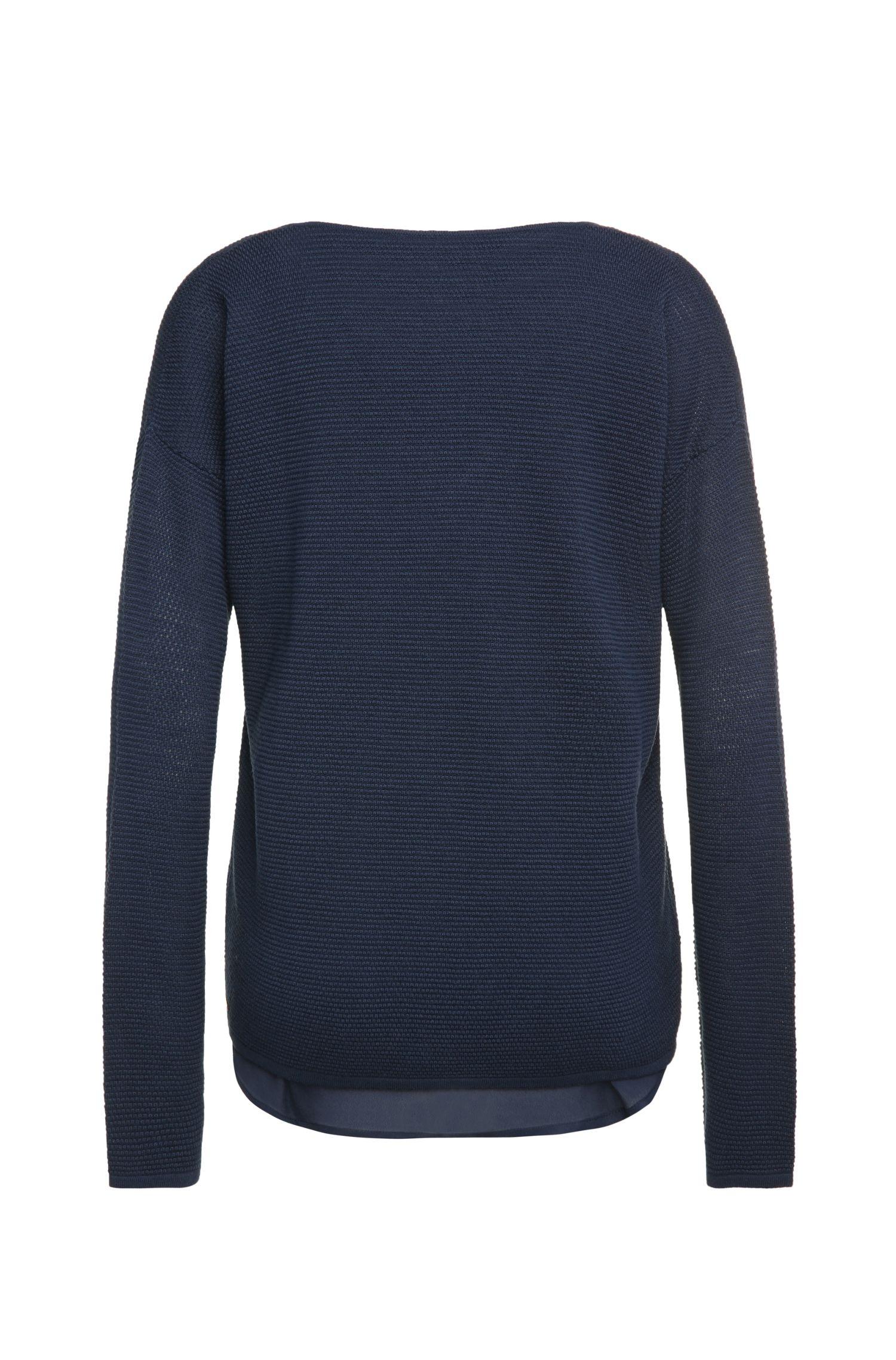 Regular-fit trui van een viscosemix met katoen, nieuwe scheerwol en zijde: 'Indilas'