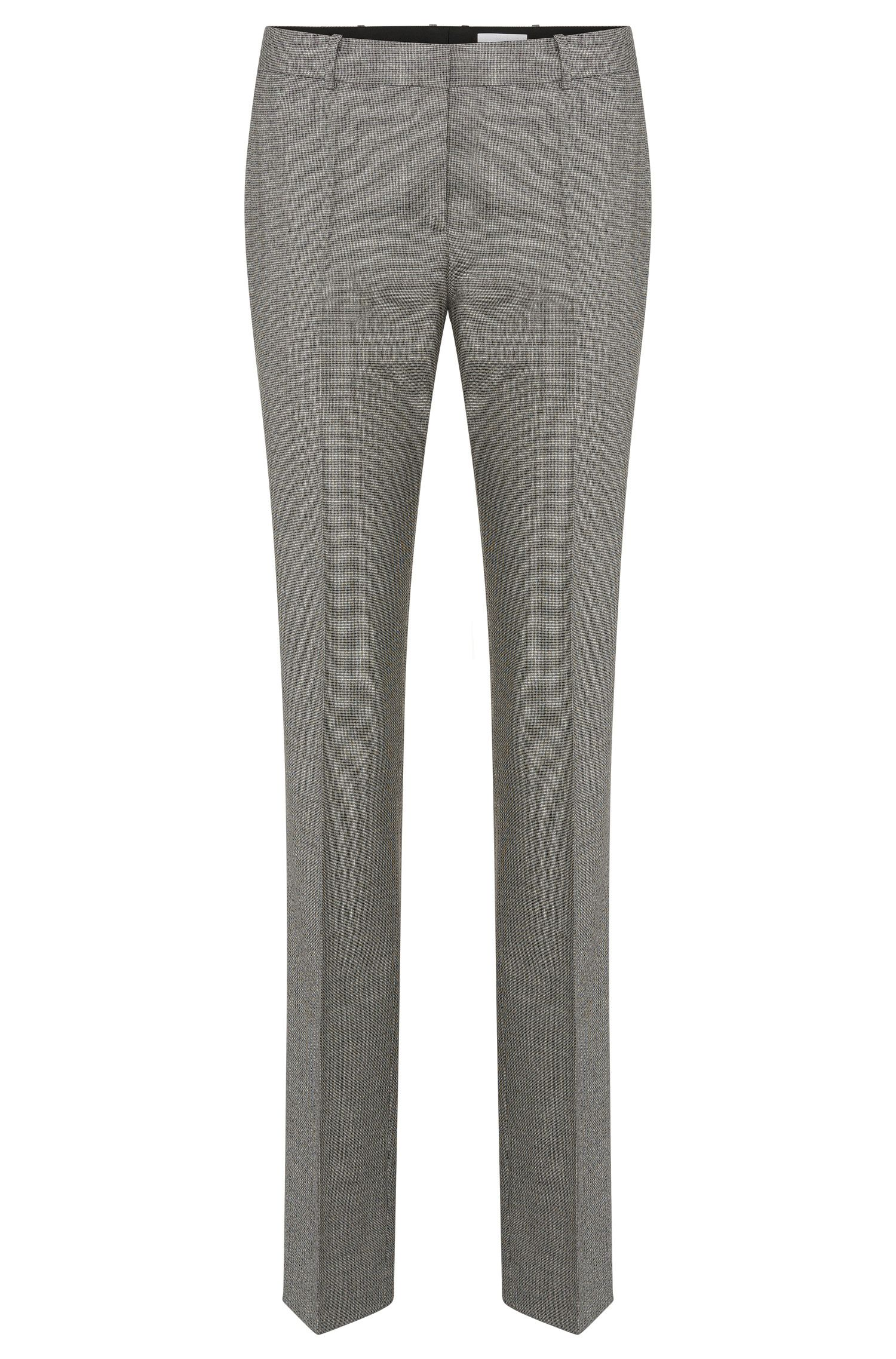 Patterned standard-fit trousers in stretch new wool: 'Tamea5'
