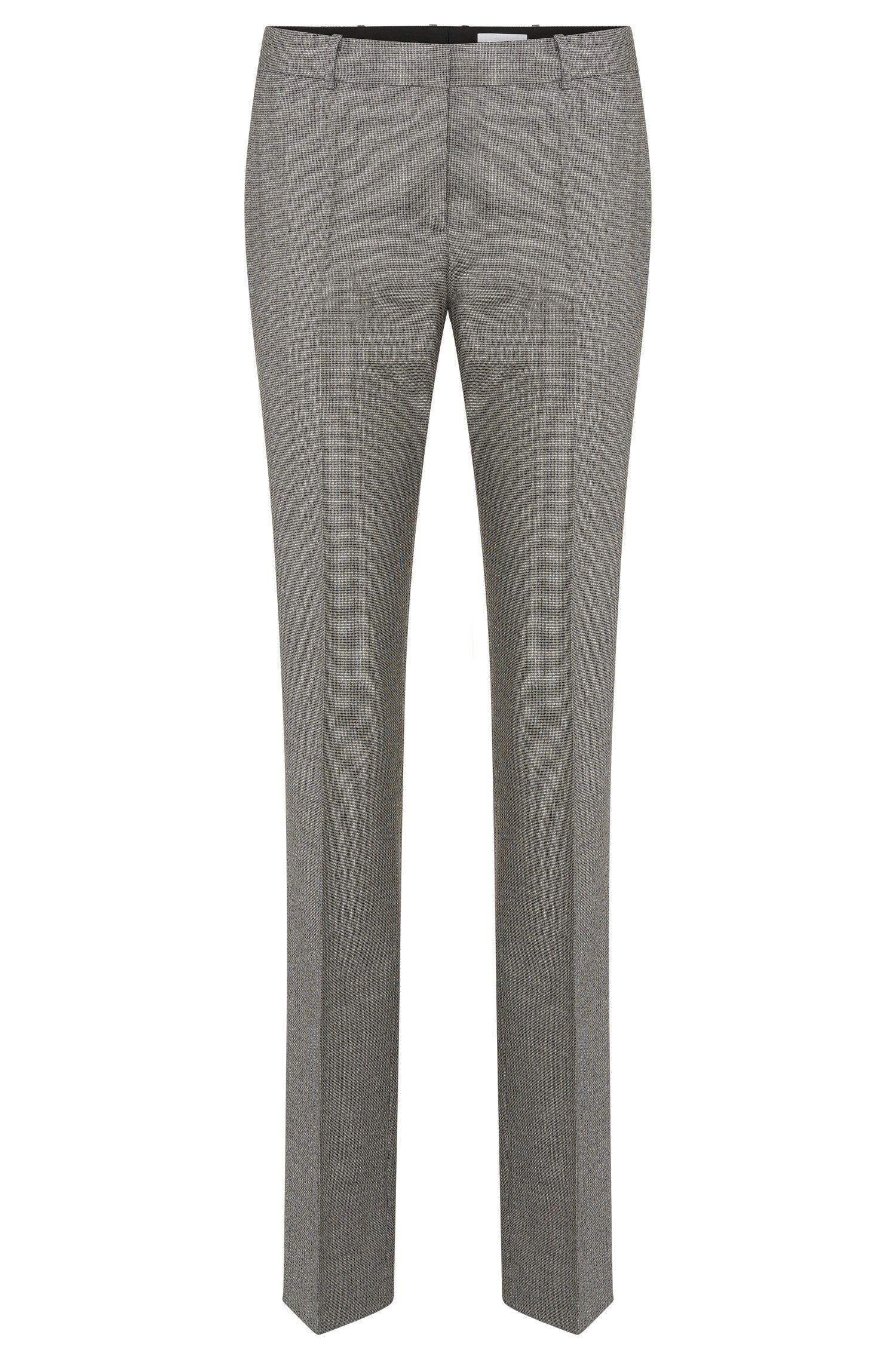 Pantalon Standard Fit à motif en laine vierge extensible: «Tamea5»