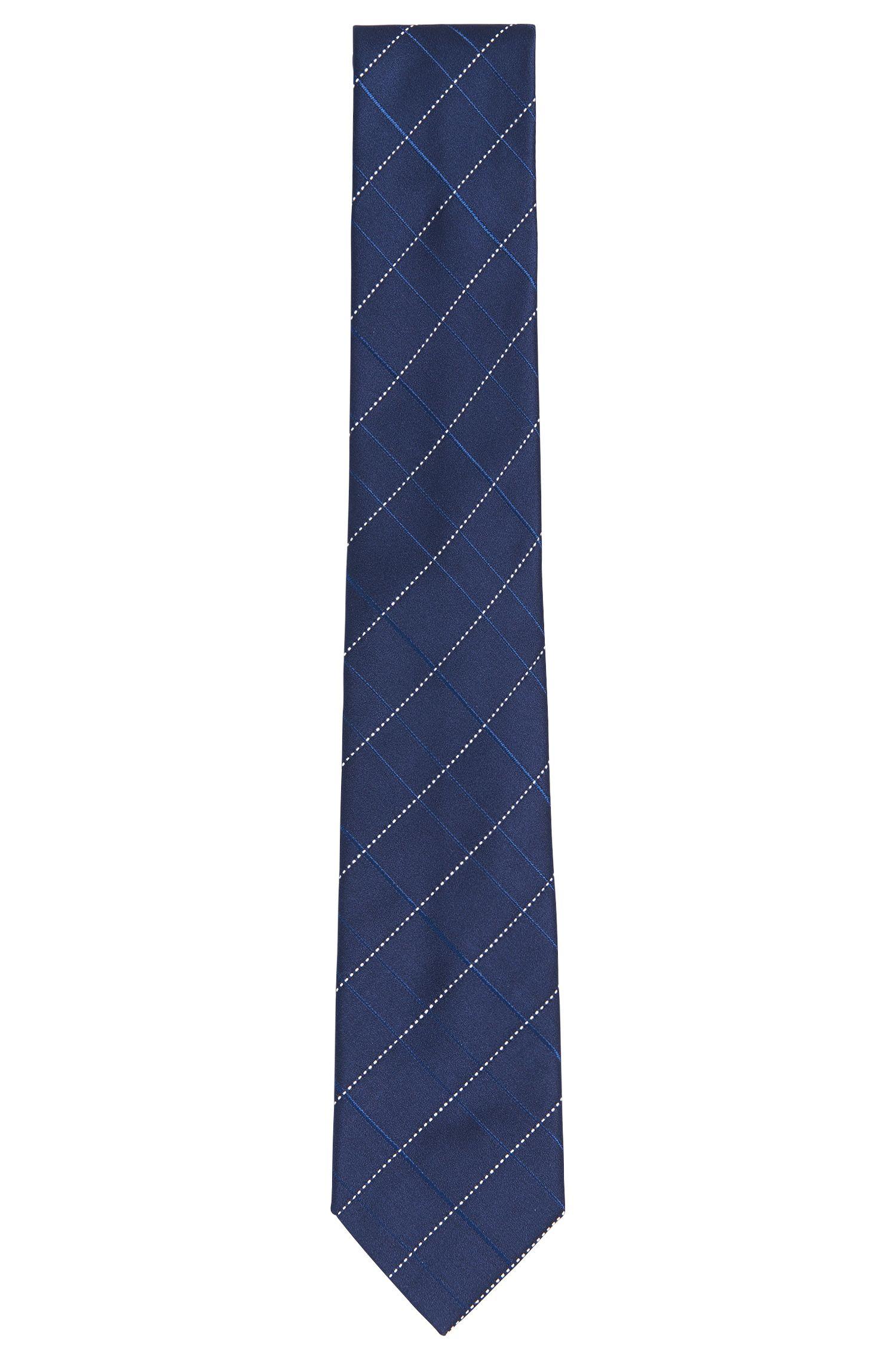 Patterned pure silk tie: 'Tie 7cm'