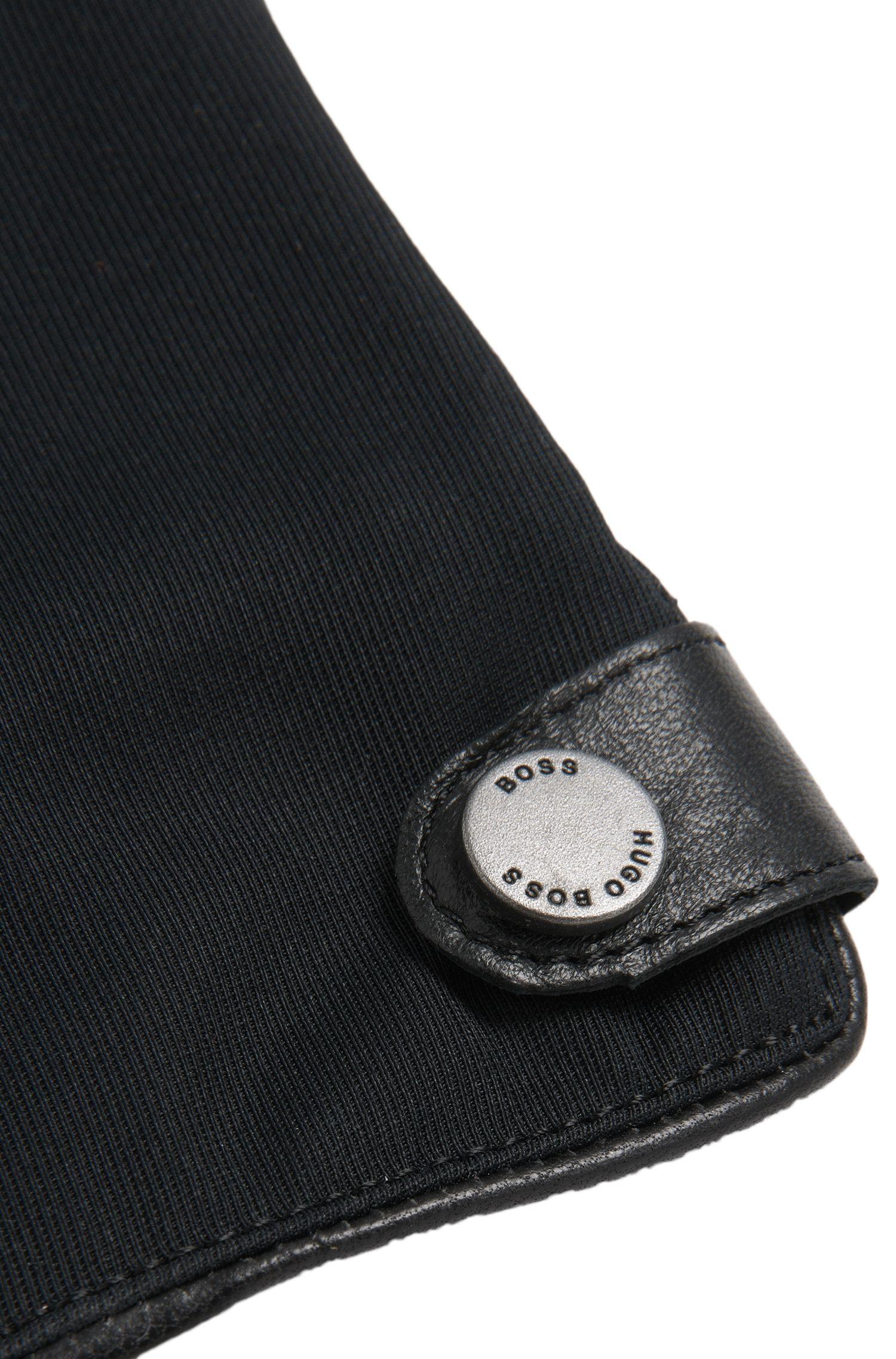 Gefütterte Lederhandschuhe mit Touchscreen-Funktion: 'Harios-TT'