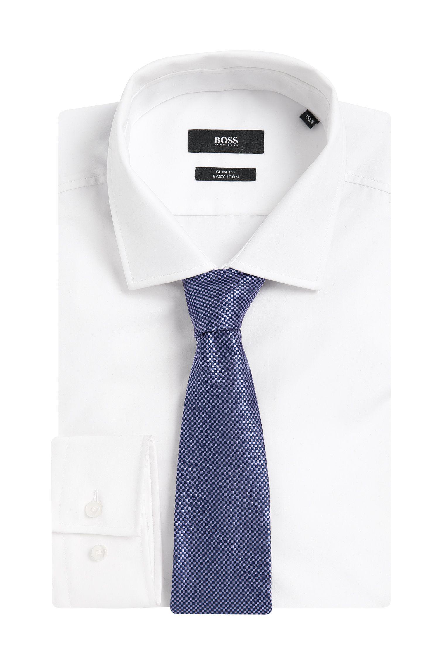Stropdas van zuivere zijde met dessin: 'Tie 7,5 cm'