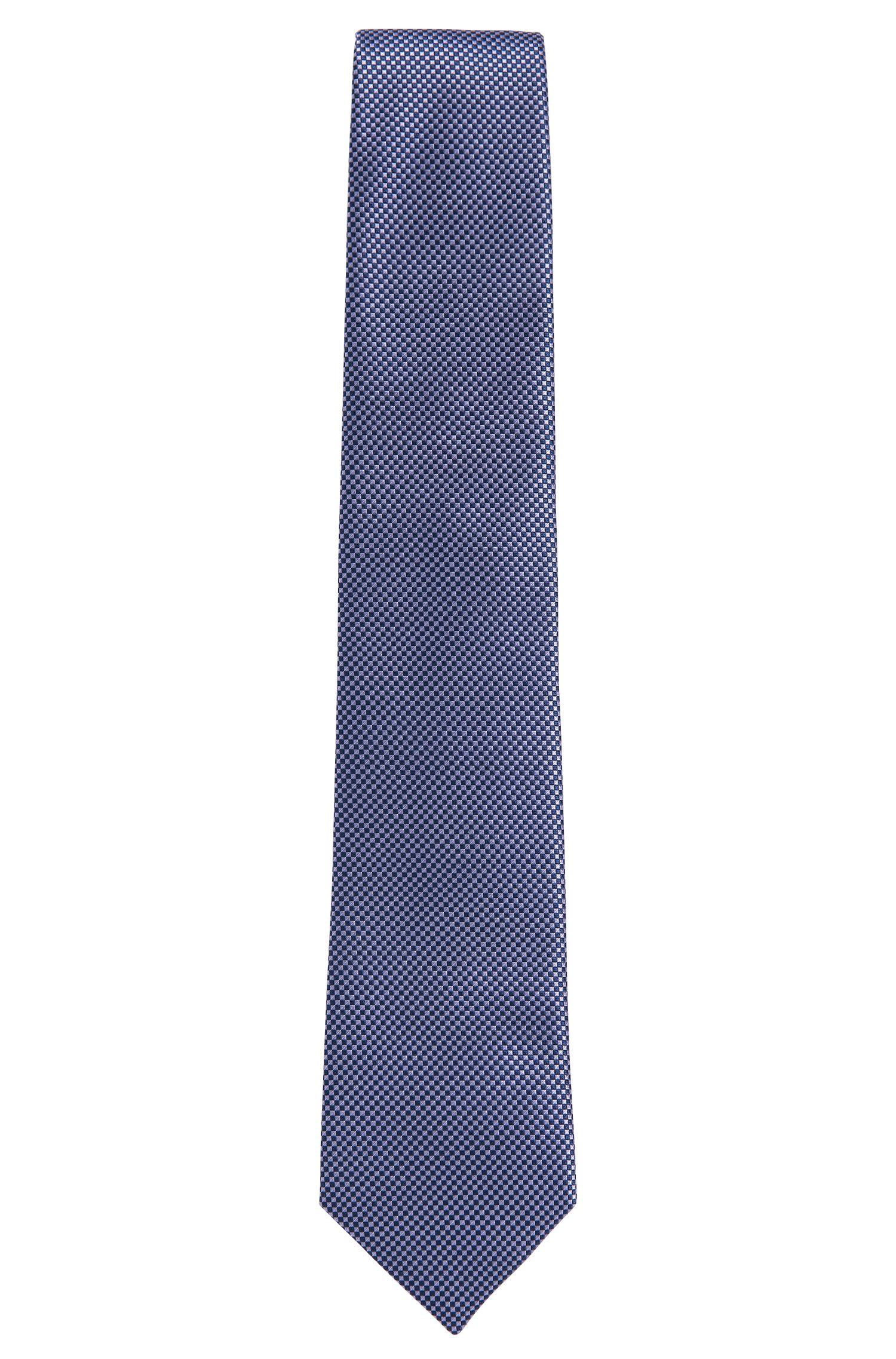 Cravatta BOSS in pura seta a disegni: 'Tie 7,5cm'