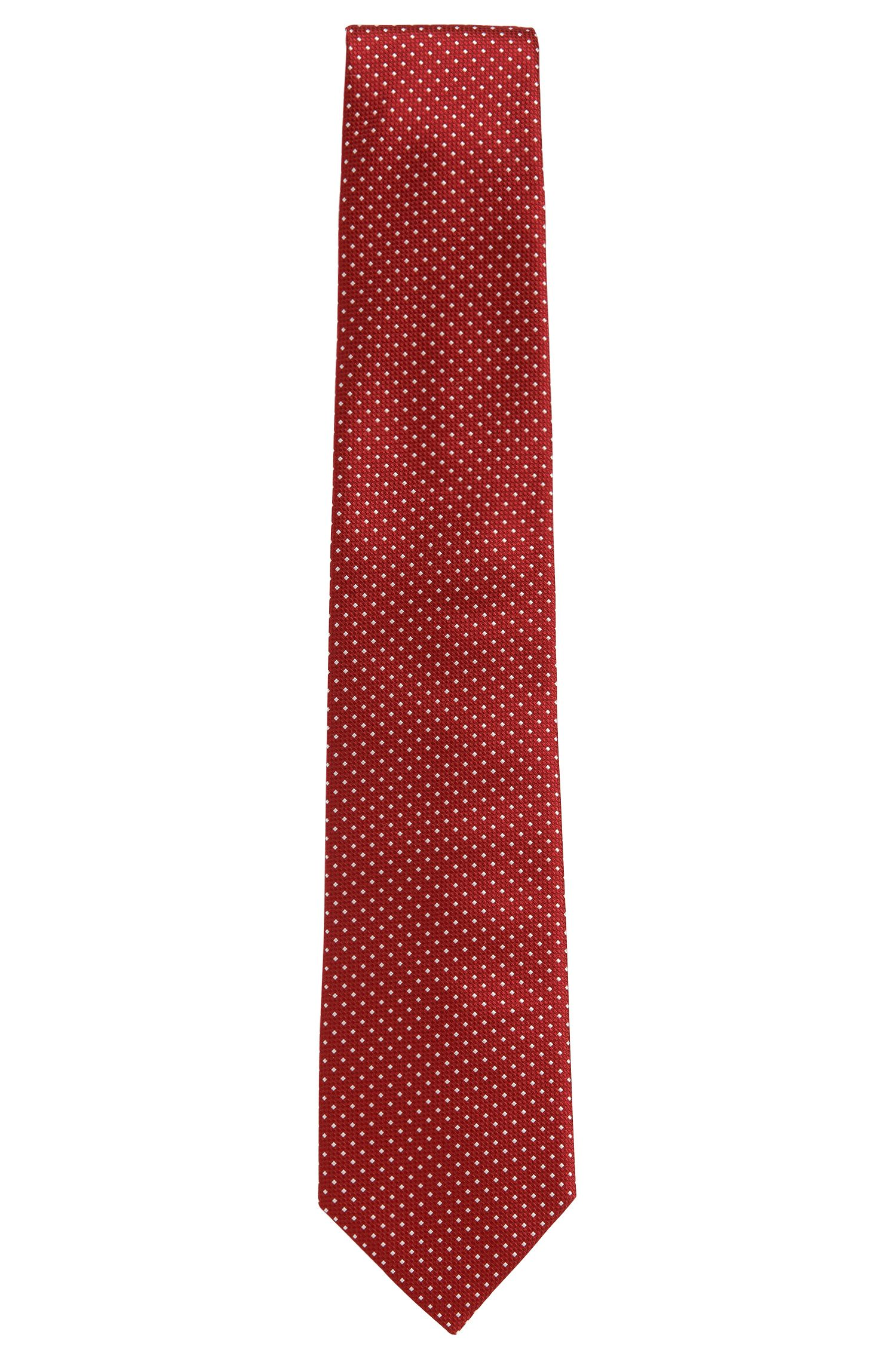 Patterned pure silk tie: 'Tie 7.5 cm'