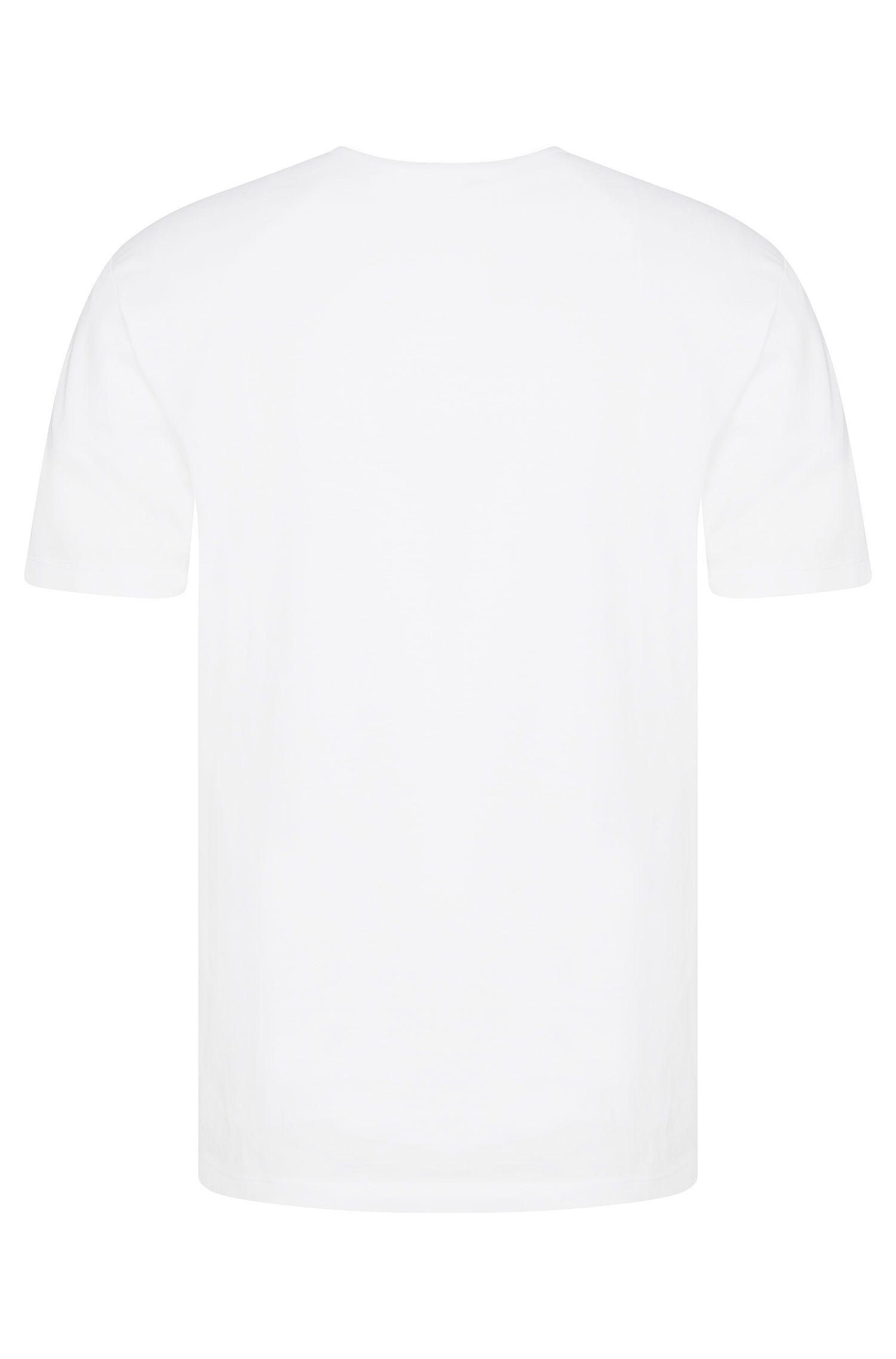 Regular-Fit T-Shirt aus Baumwolle mit perforierter Front: 'Teal 02'