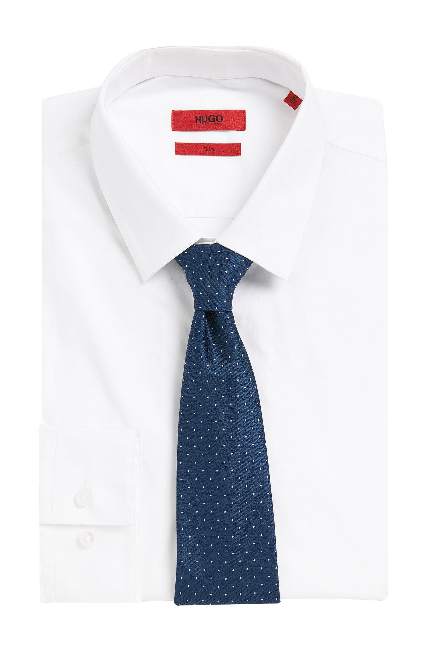 Gepunktete Krawatte aus reiner Seide: 'Tie cm 7'