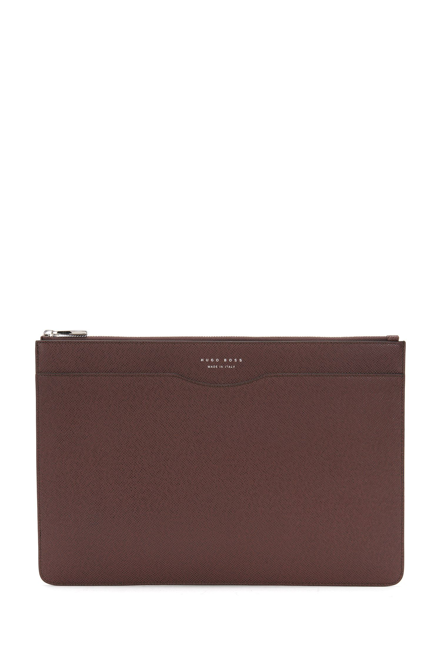 Leather document bag with detachable handle: 'Signature_Folio ZipH'
