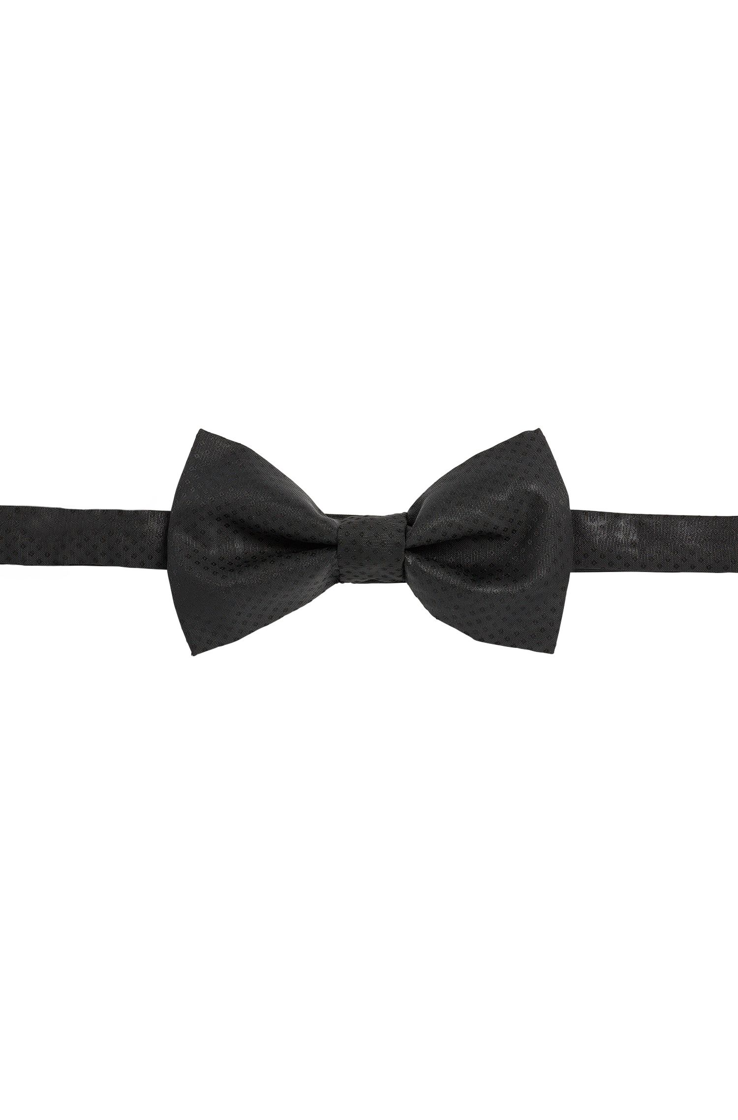 Silk bow-tie with a fine Argyle pattern: 'Big bow tie'