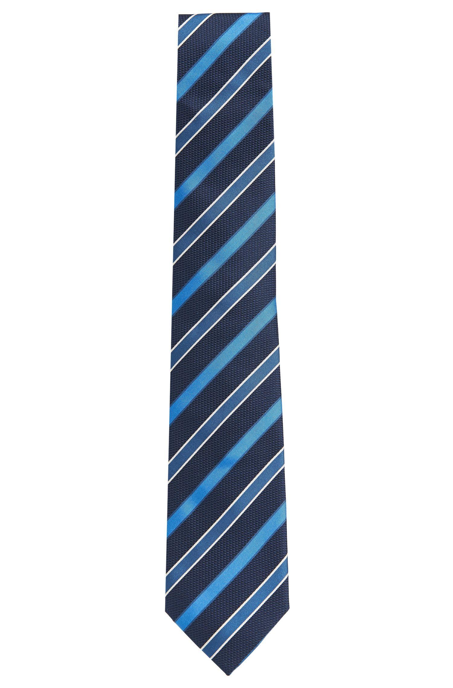 Gestreifte Krawatte aus reiner Seide: 'Tie 7,5 cm'