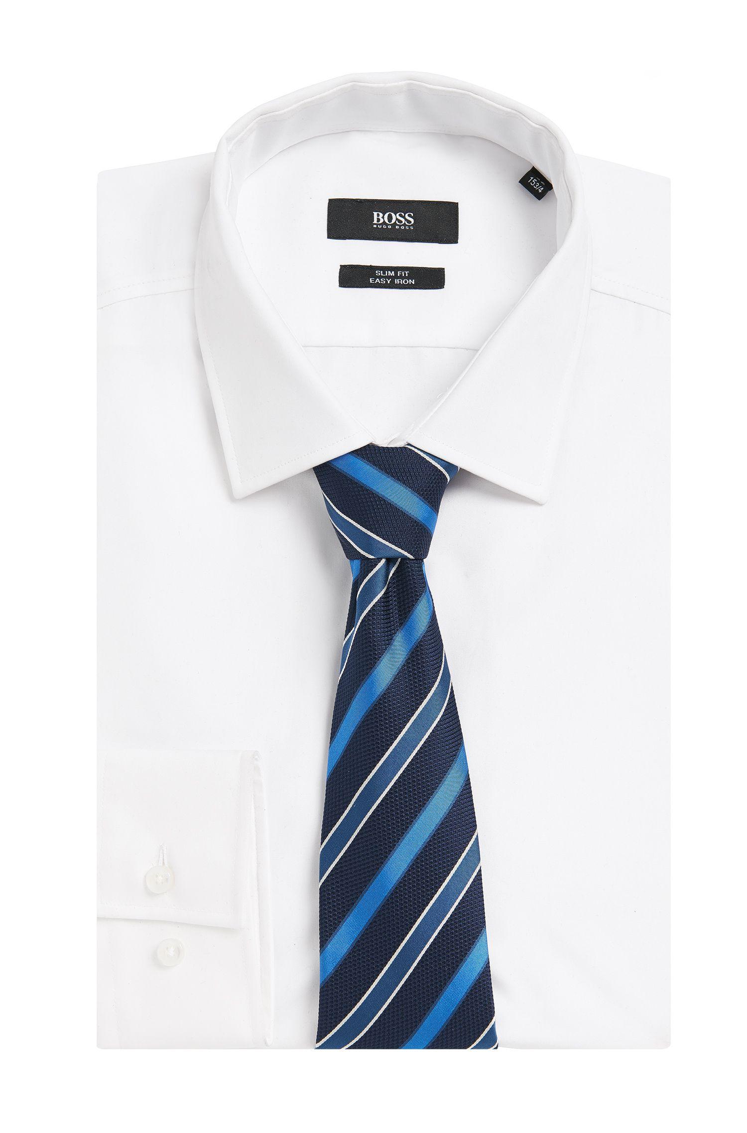 Gestreepte stropdas van zuivere zijde: 'Tie 7,5 cm'