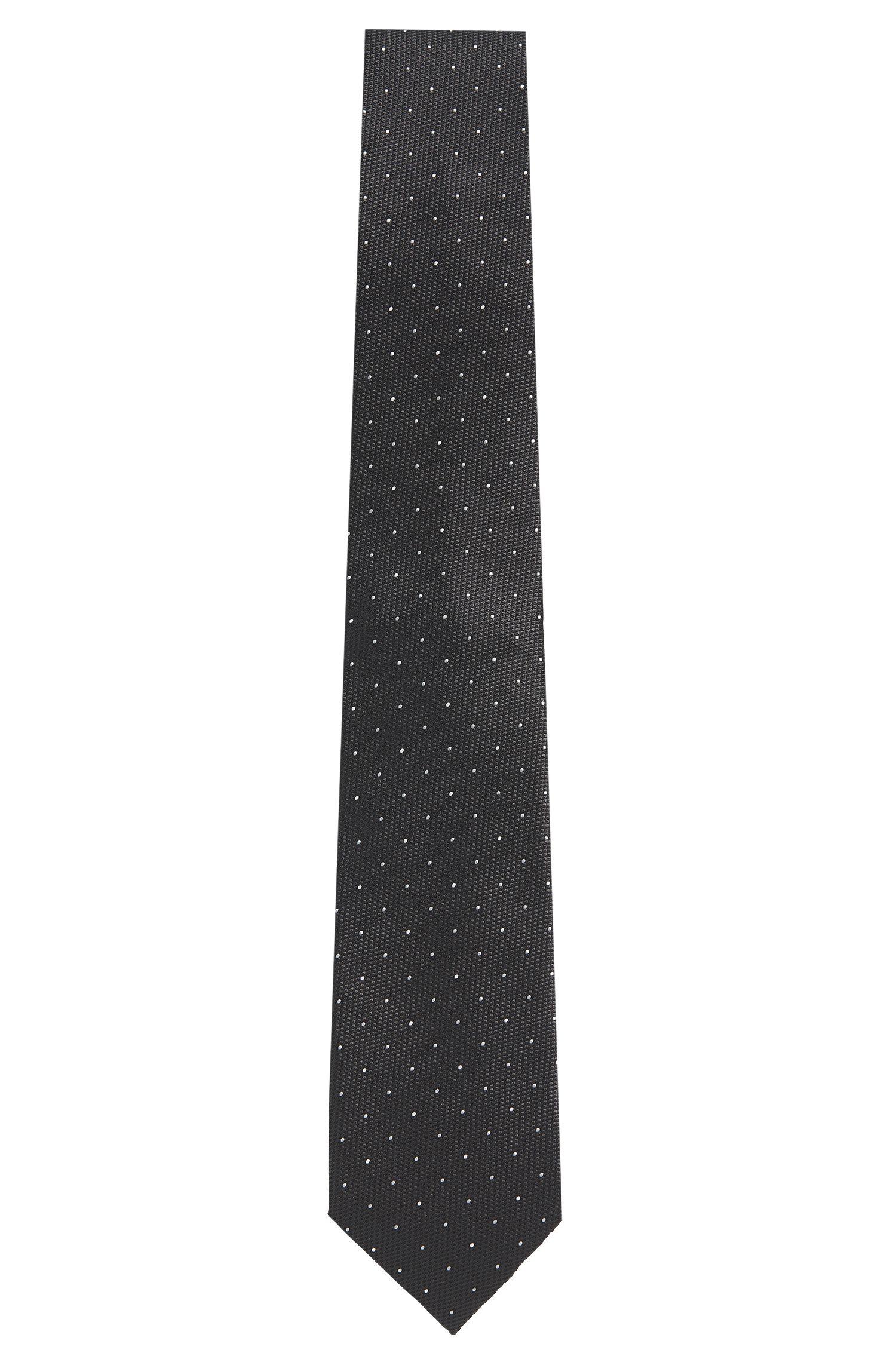 Polka-dot-pattern silk tie: 'Tie 7.5cm'