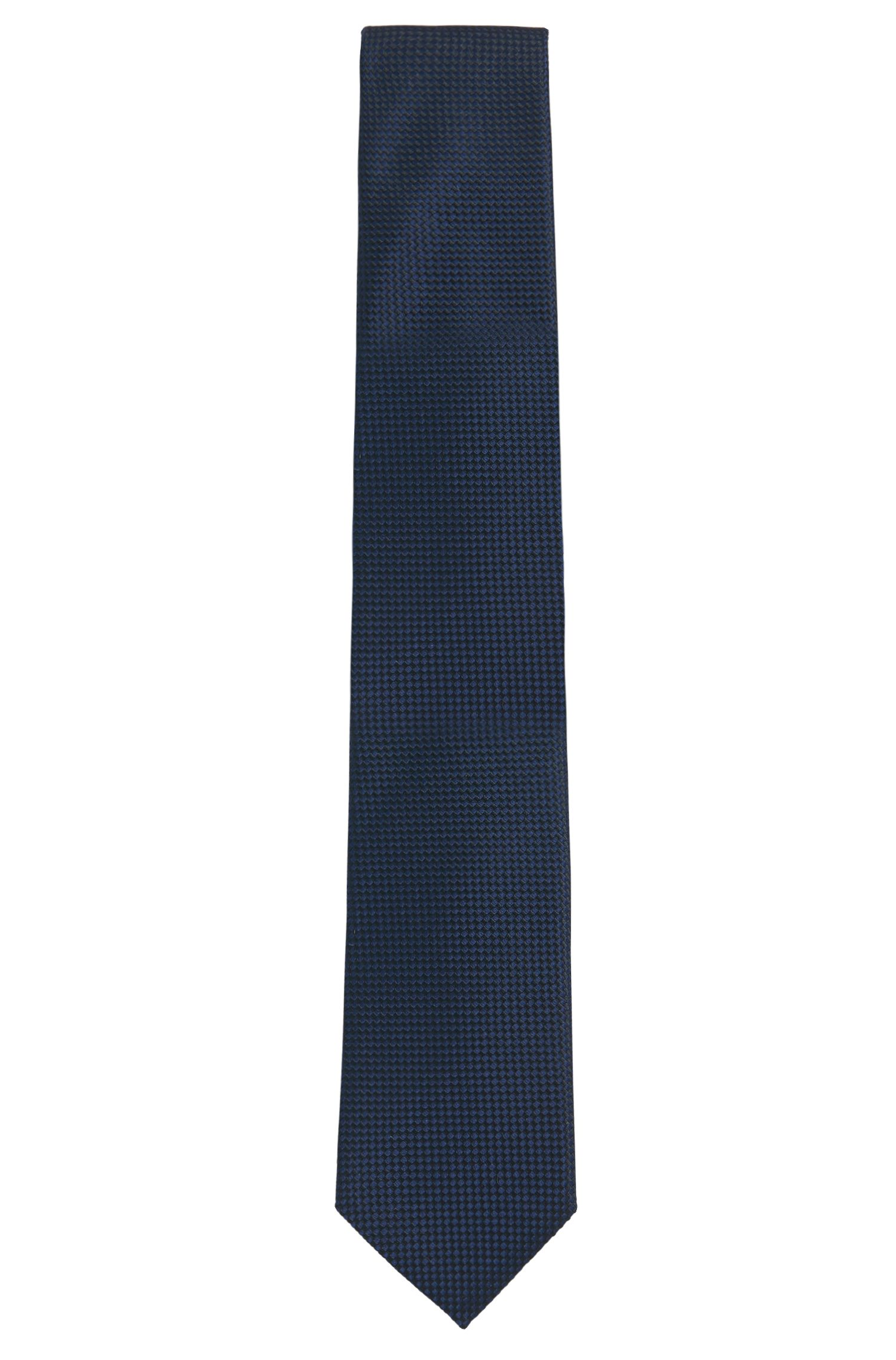 Pure silk tie with subtle pattern: 'Tie 7.5 cm'