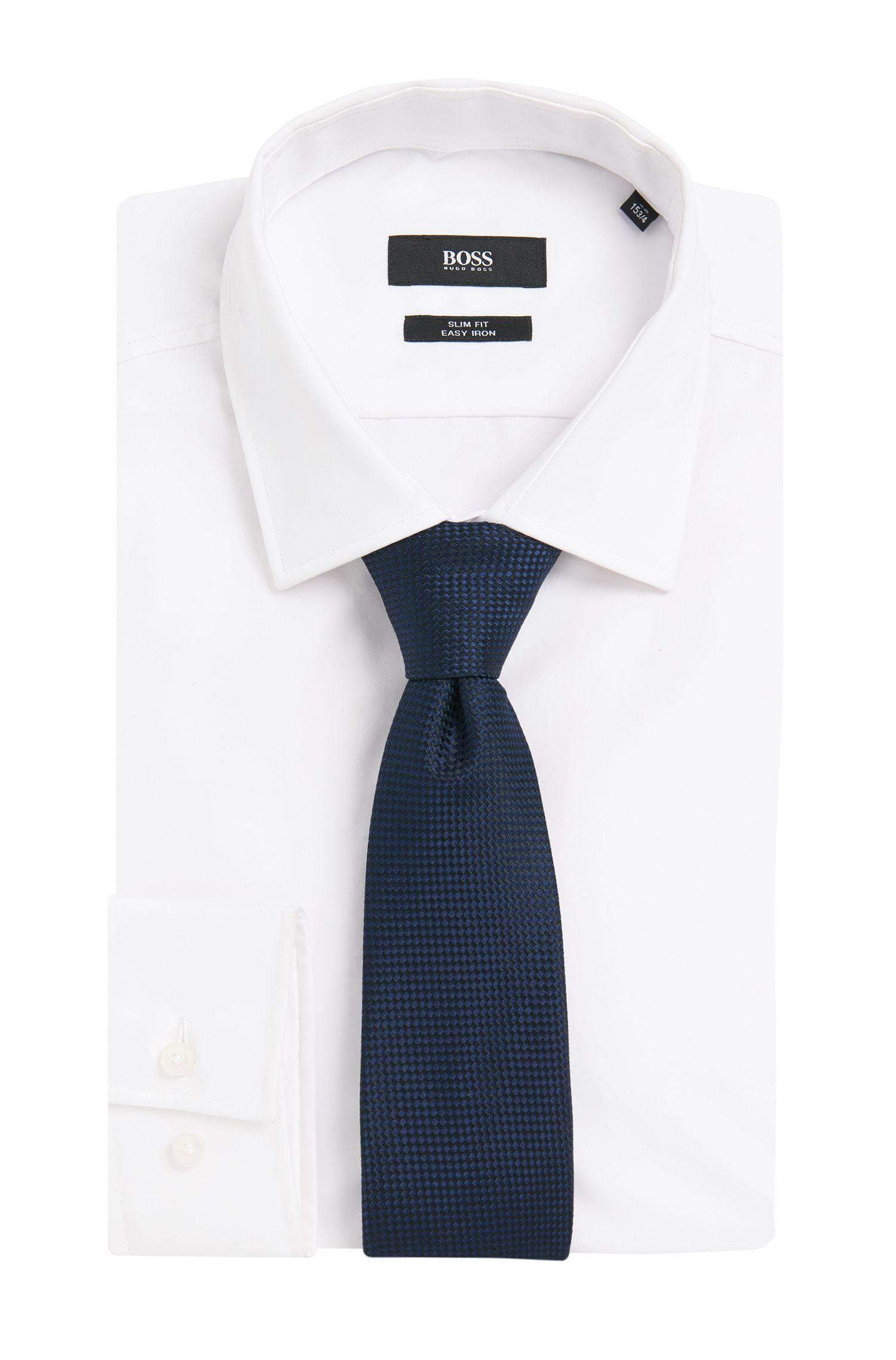 Krawatte aus reiner Seide mit dezentem Muster: 'Tie 7,5 cm'