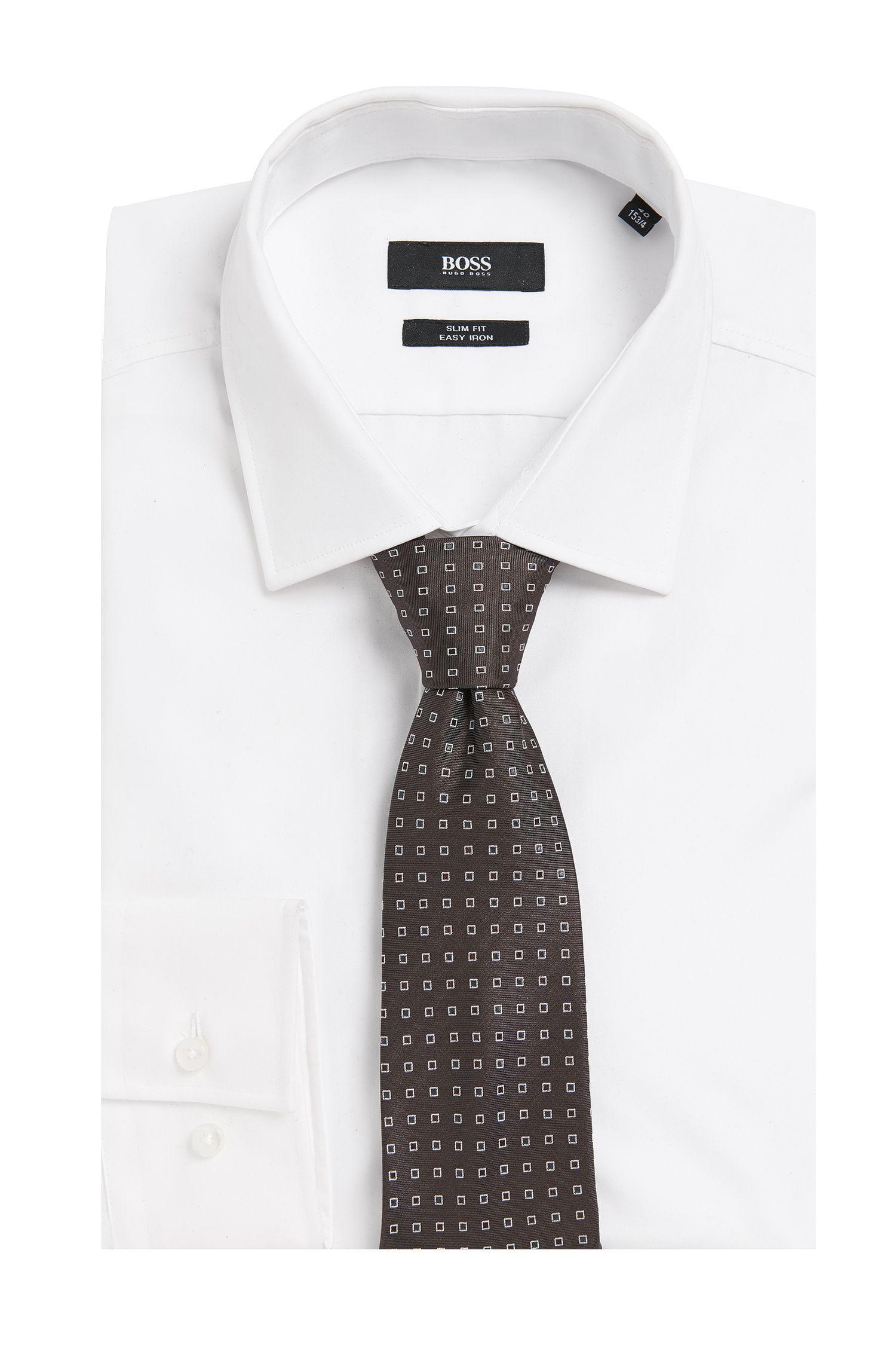 Gemusterte Krawatte aus Seide: Tie 7,5 cm'