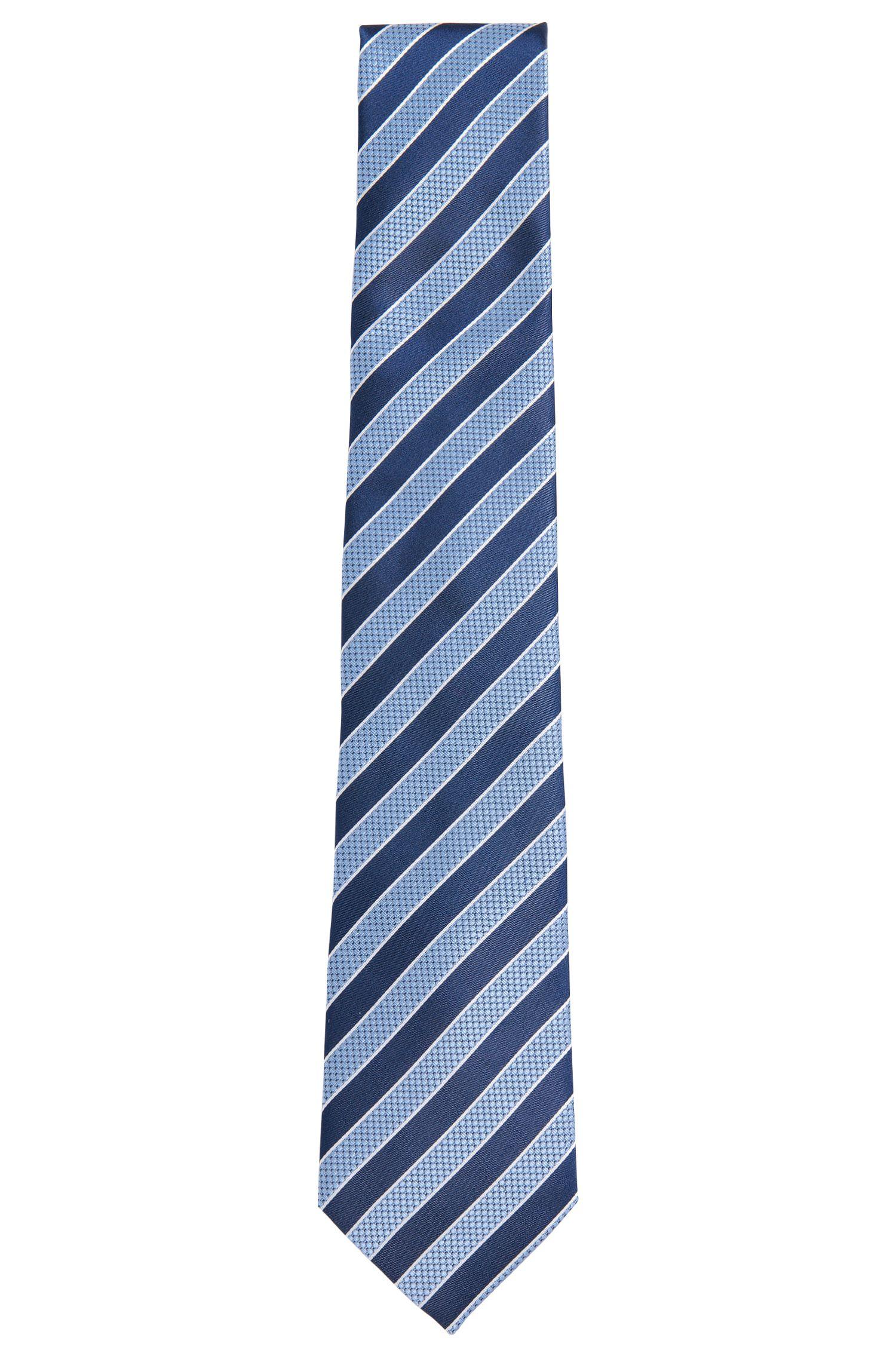 Gestreepte stropdas van zijde: 'Tie 7,5 cm'