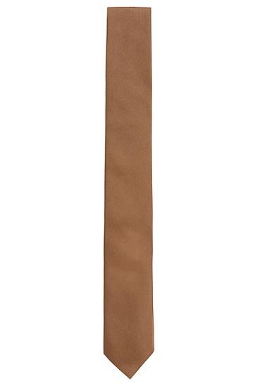 Geriffelte Krawatte aus Seide: 'Tie cm 6', Hellbraun
