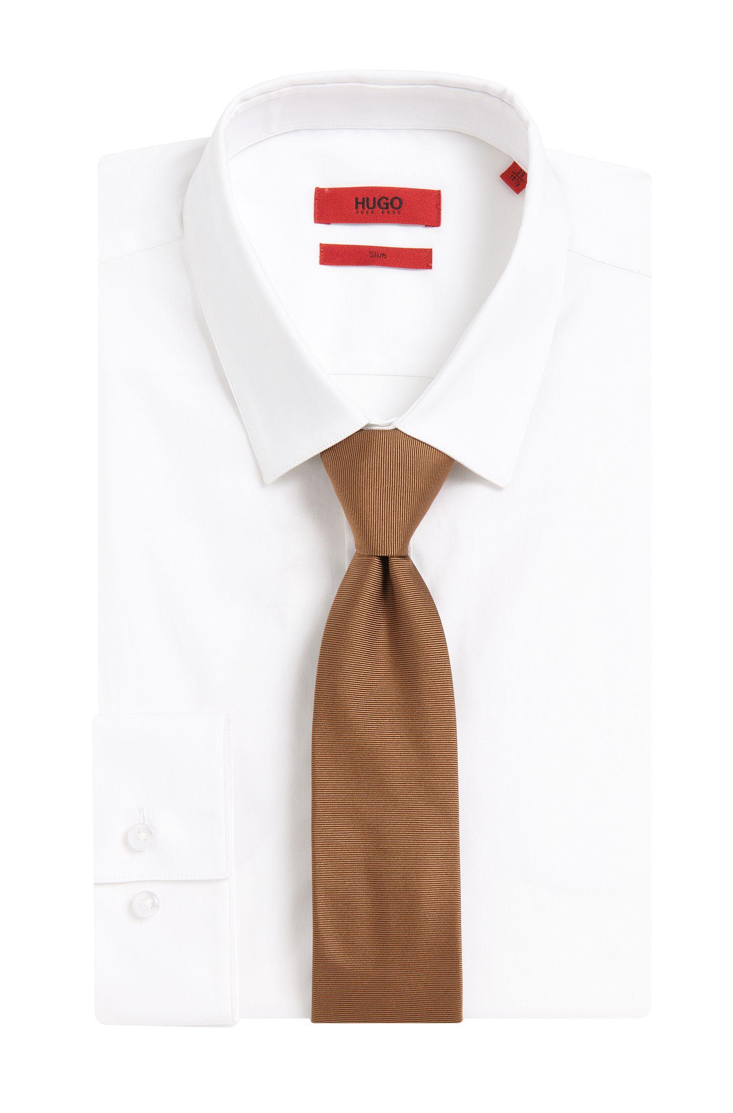Geriffelte Krawatte aus Seide: 'Tie cm 6'