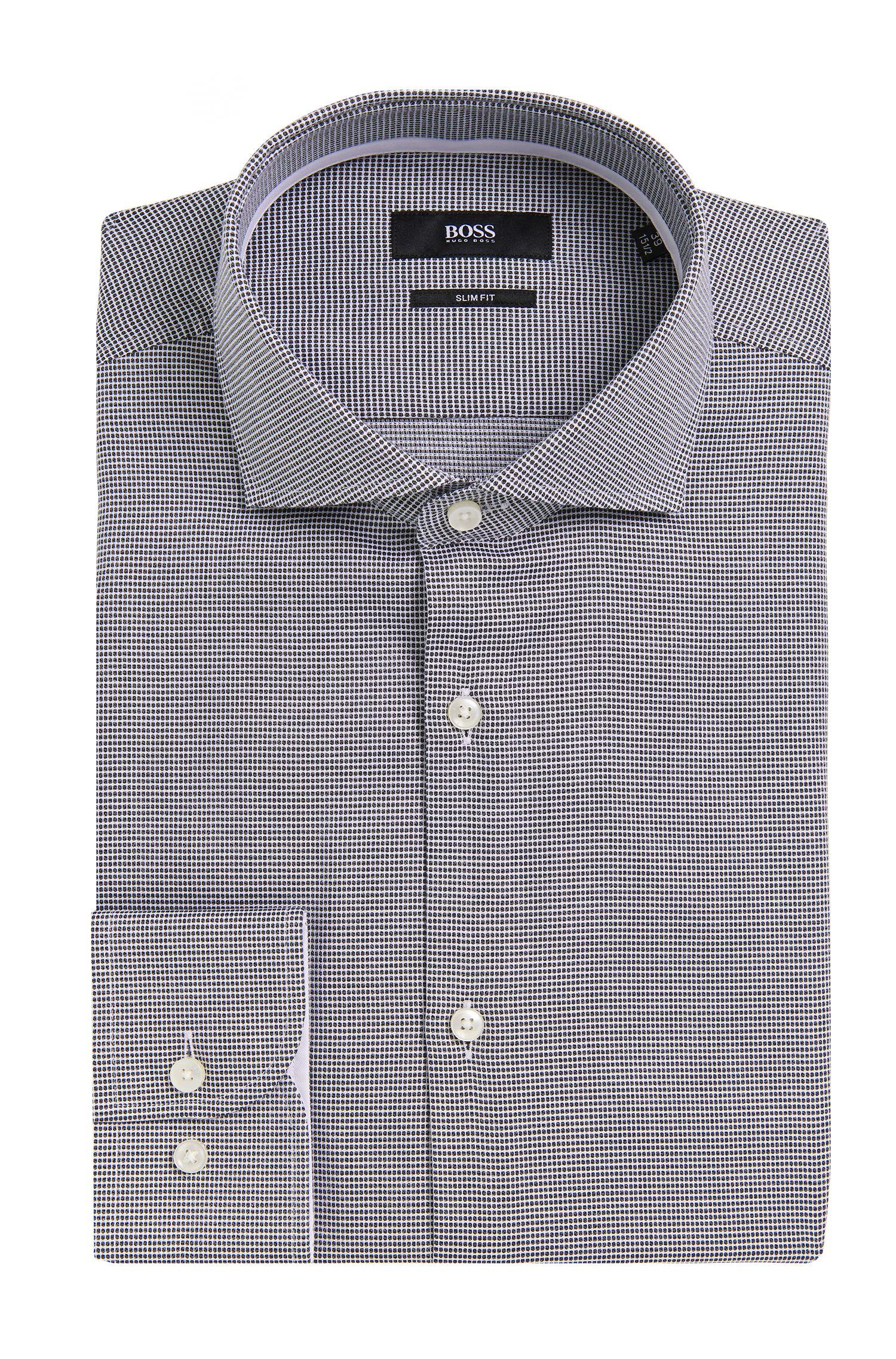 Slim-fit overhemd van katoen met dessin: 'Jery'