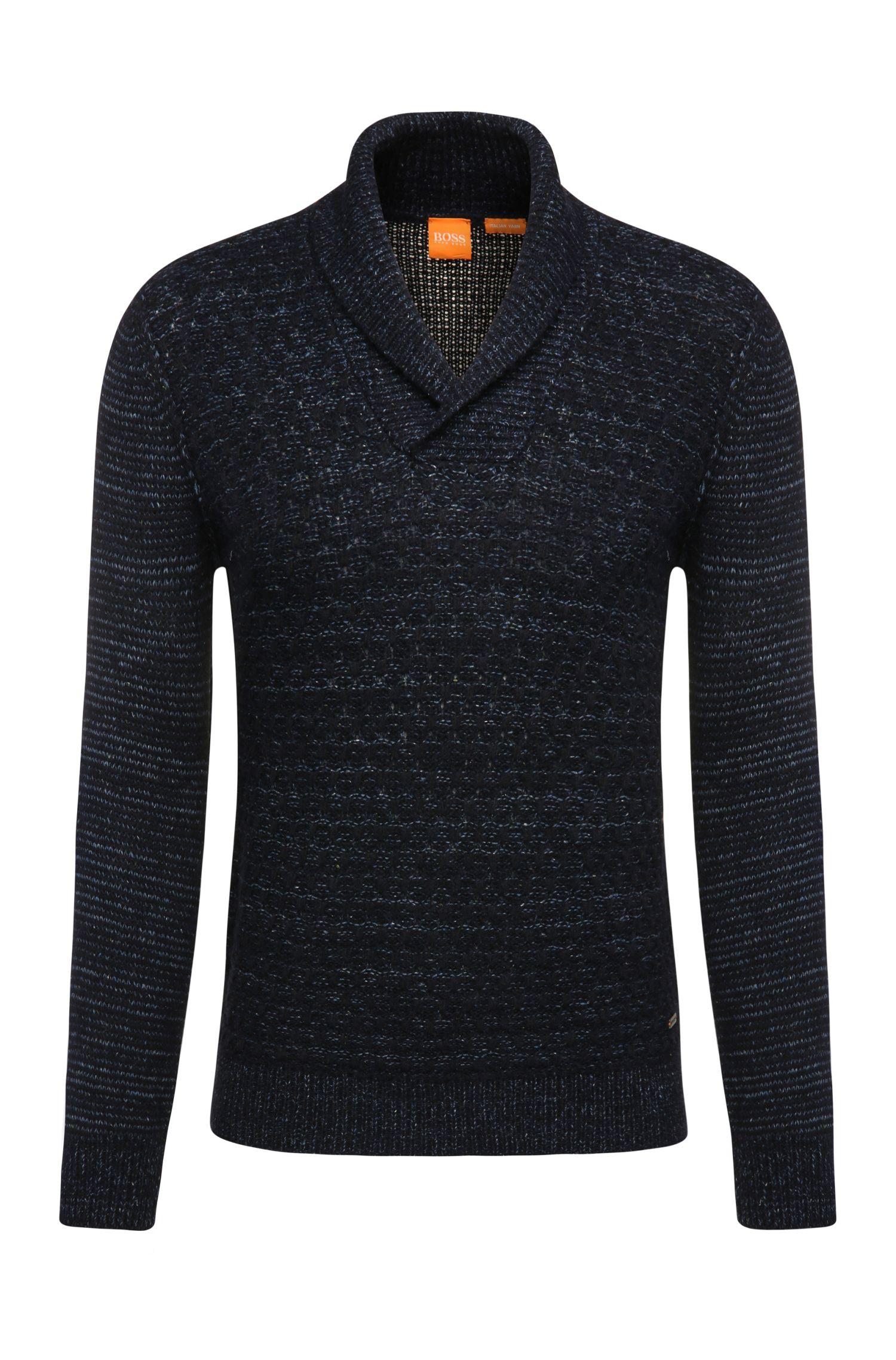 Maglione slim fit in materiali misti con lana, alpaca, viscosa e seta: 'Kwaul'