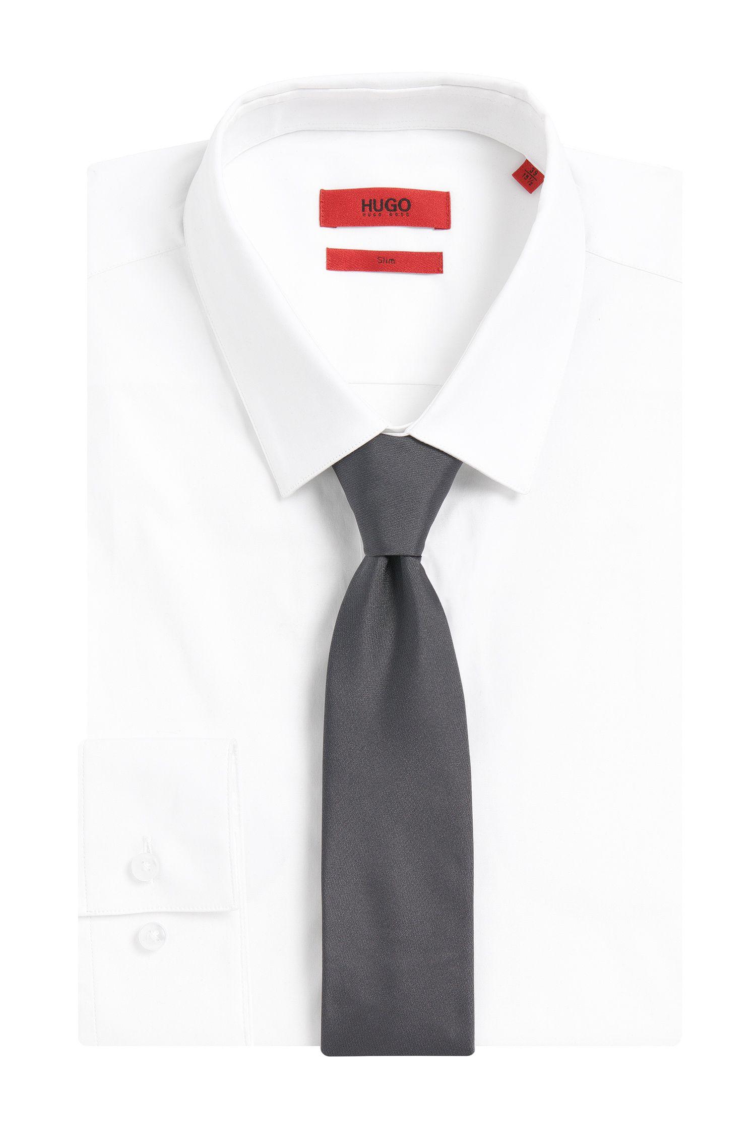 Unifarbene Krawatte aus reiner Seide: 'Tie cm 6'