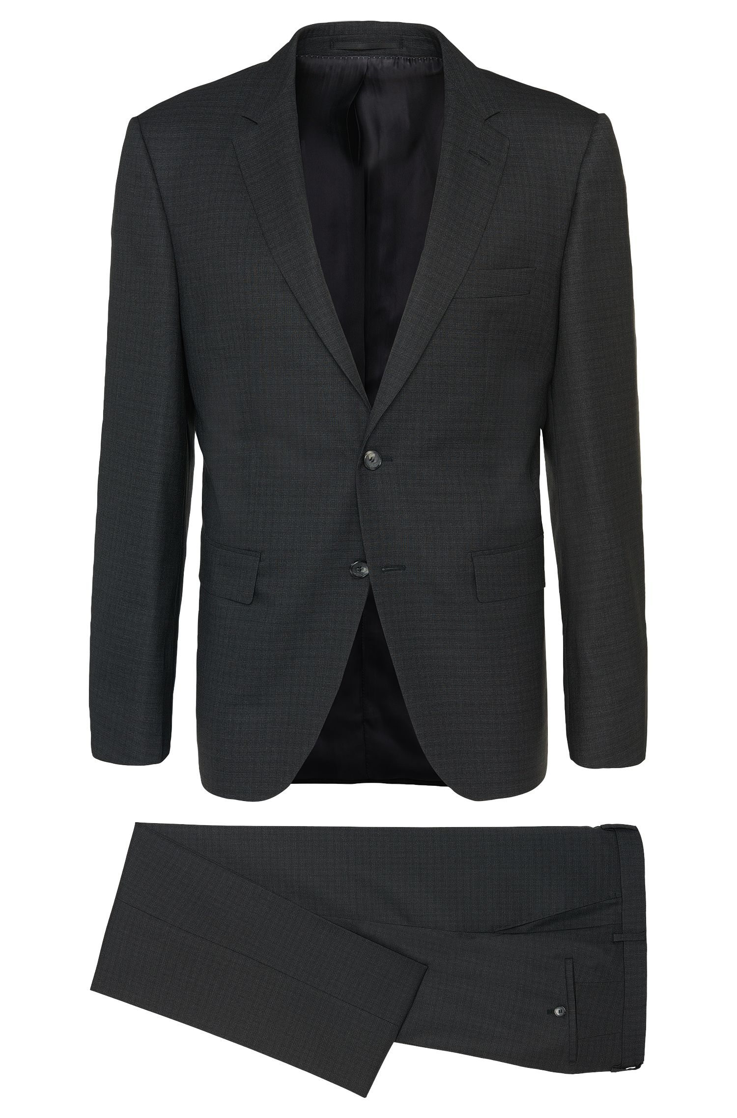 Mottled regular-fit Tailored suit in new wool: 'T-Howard4/Court5'