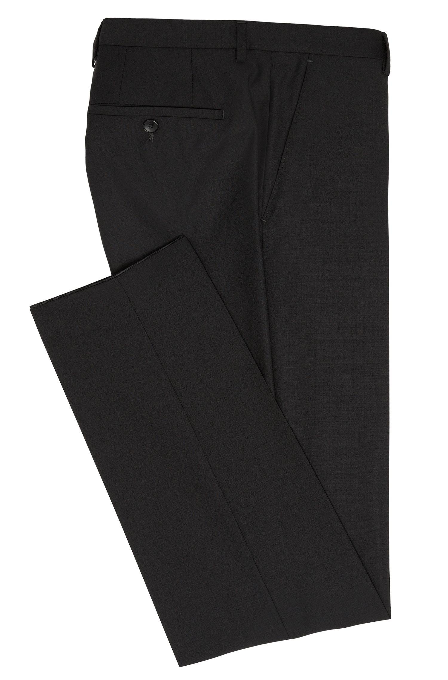 Effen regular-fit broek van een scheerwolmix met kasjmier: 'Leenon'