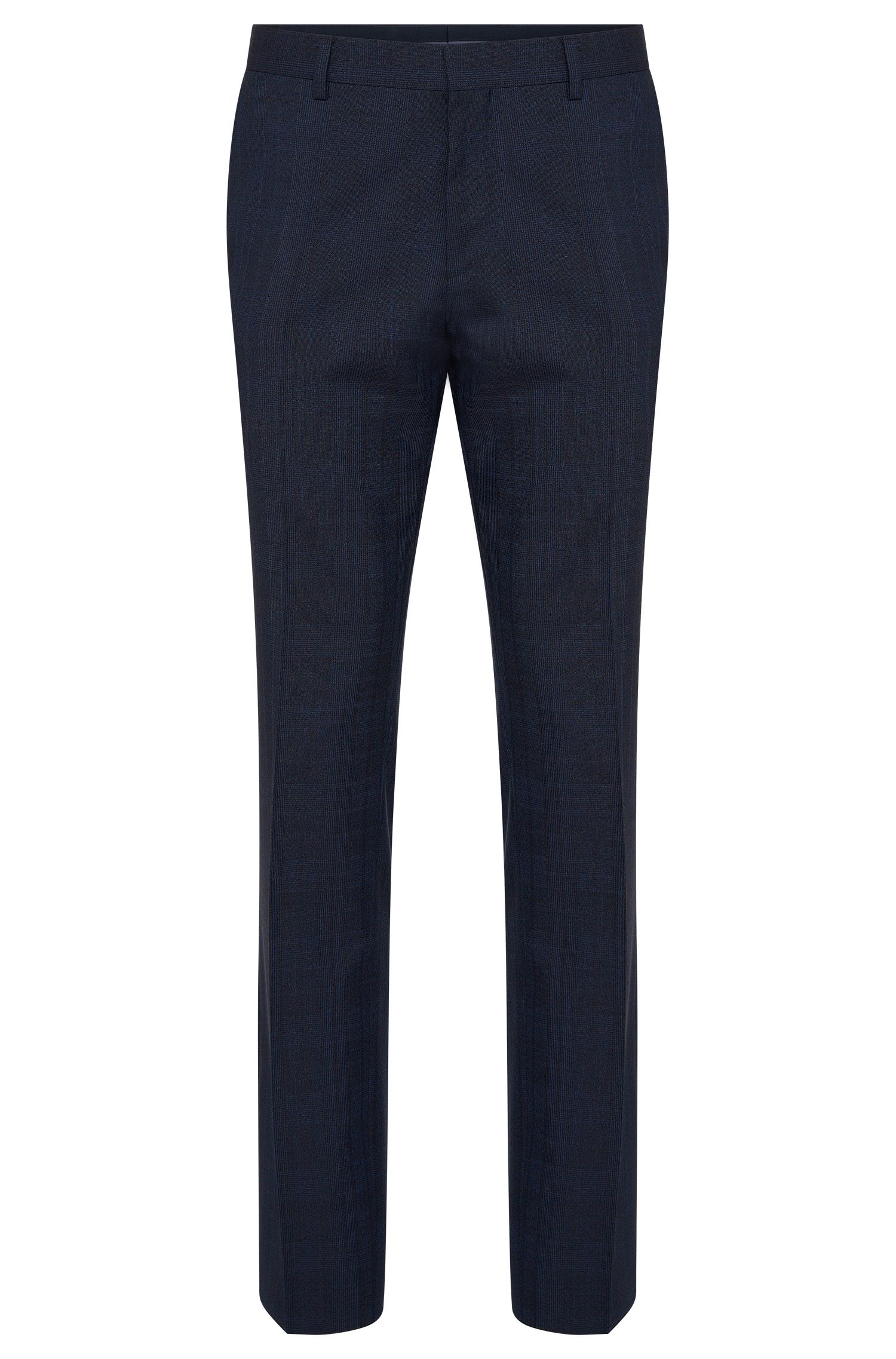 Checked slim-fit trousers in new wool: 'Genesis2'