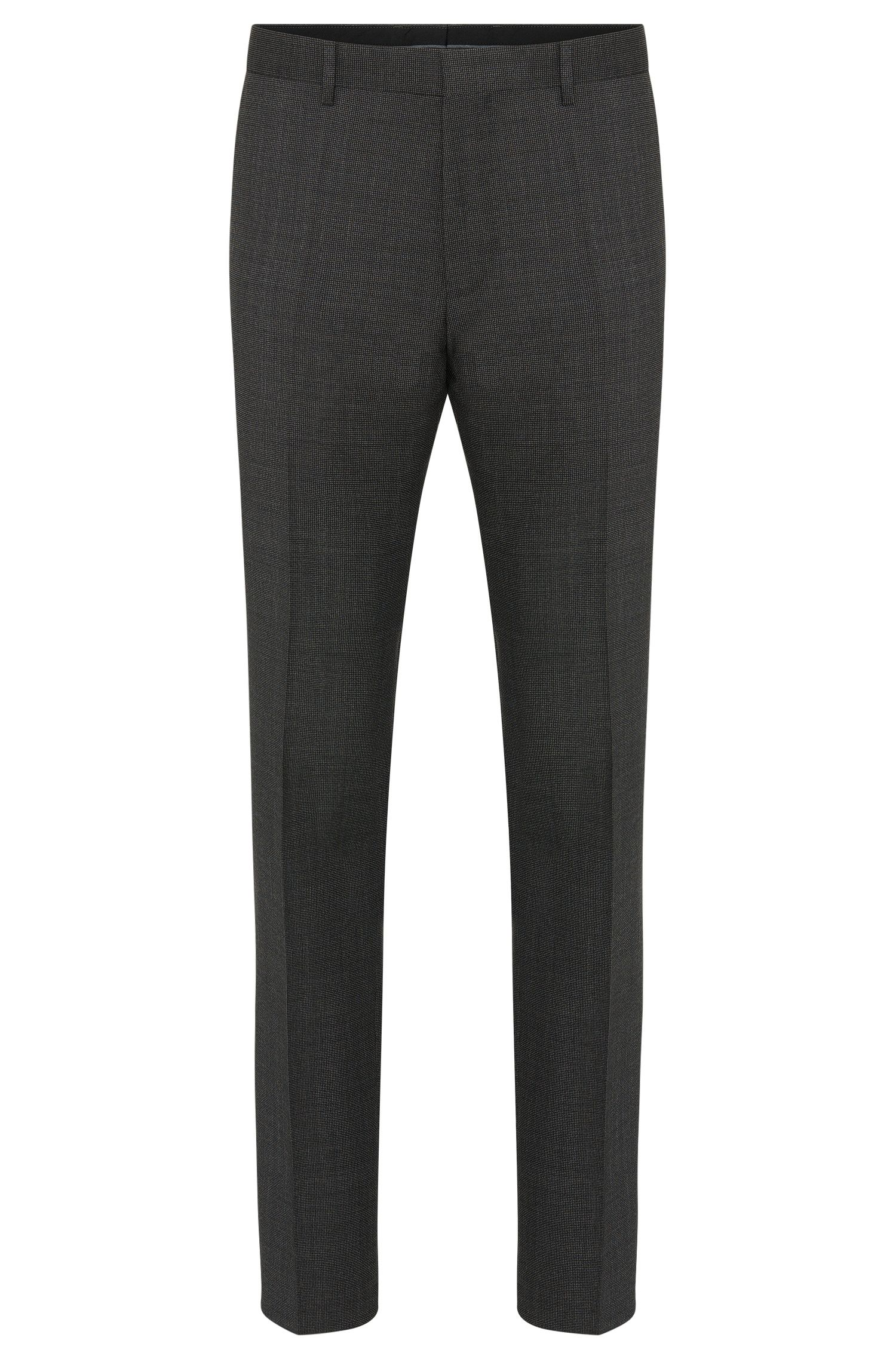 Finely checked slim-fit trousers in new wool: 'Giro3'