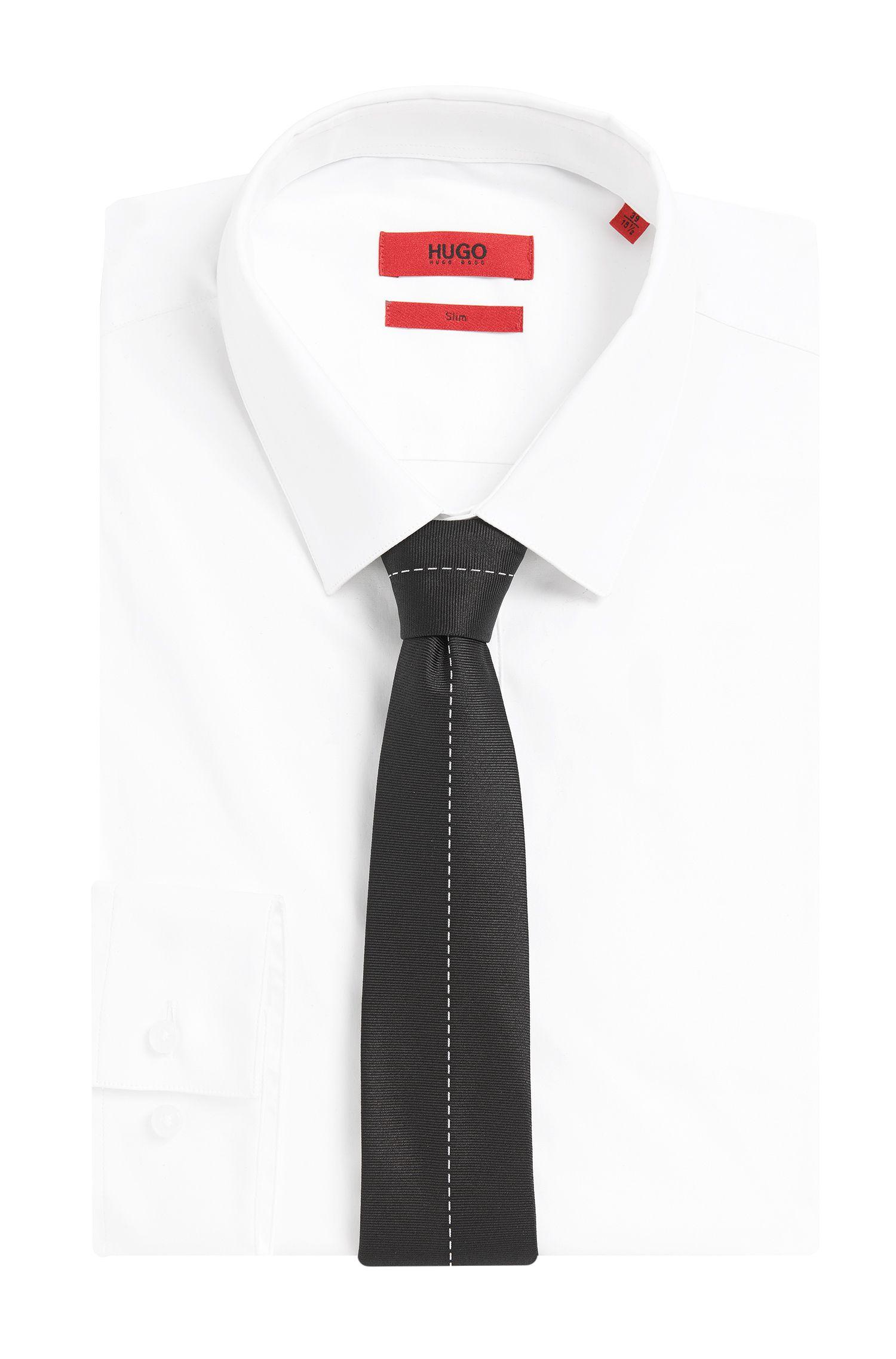 Stropdas van zijde met naaddetail: 'Tie cm 6'