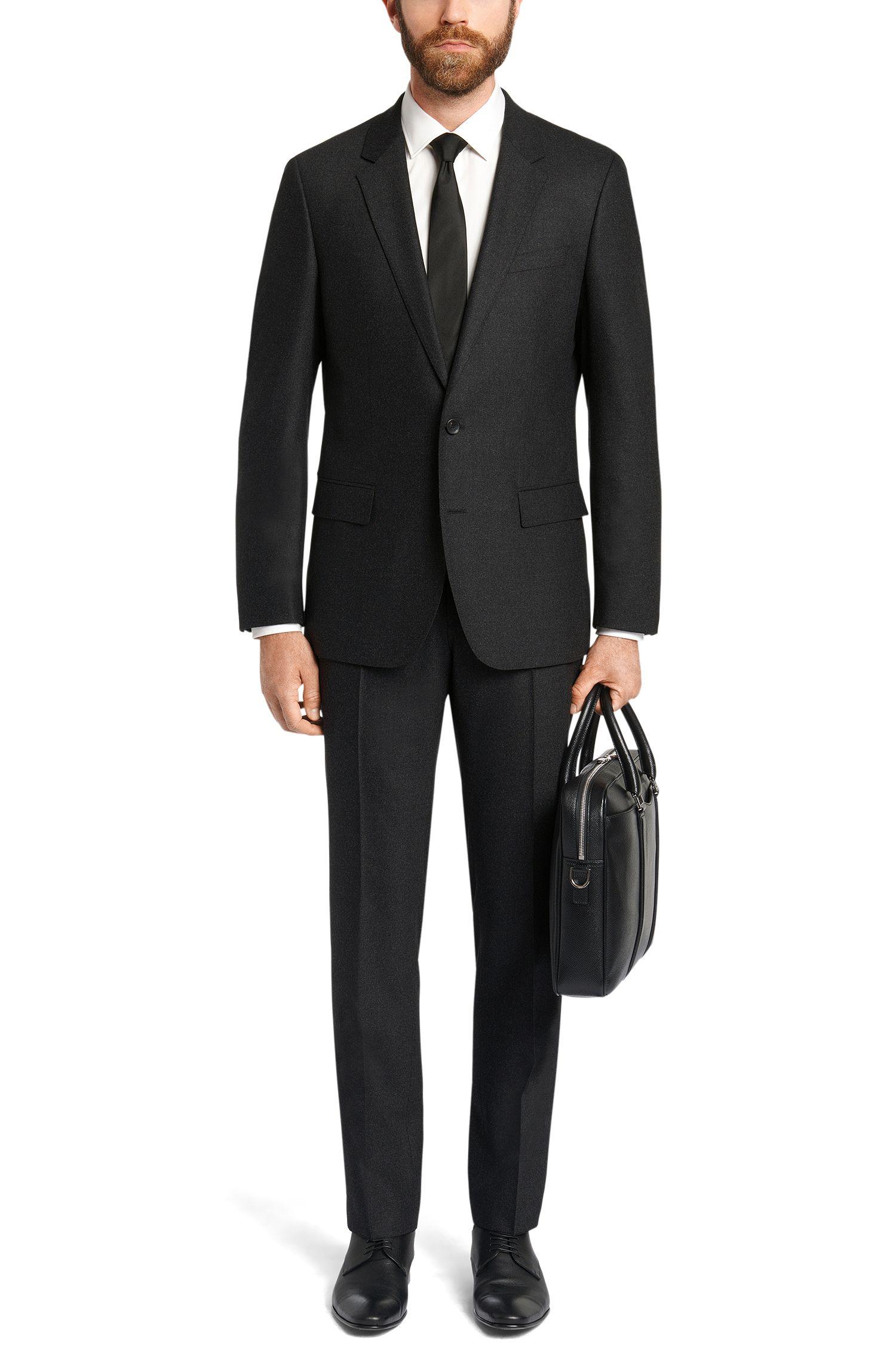 Slim-Fit Anzug aus elastischem Schurwoll-Mix mit Kaschmir: 'Huge4/Genesis3'